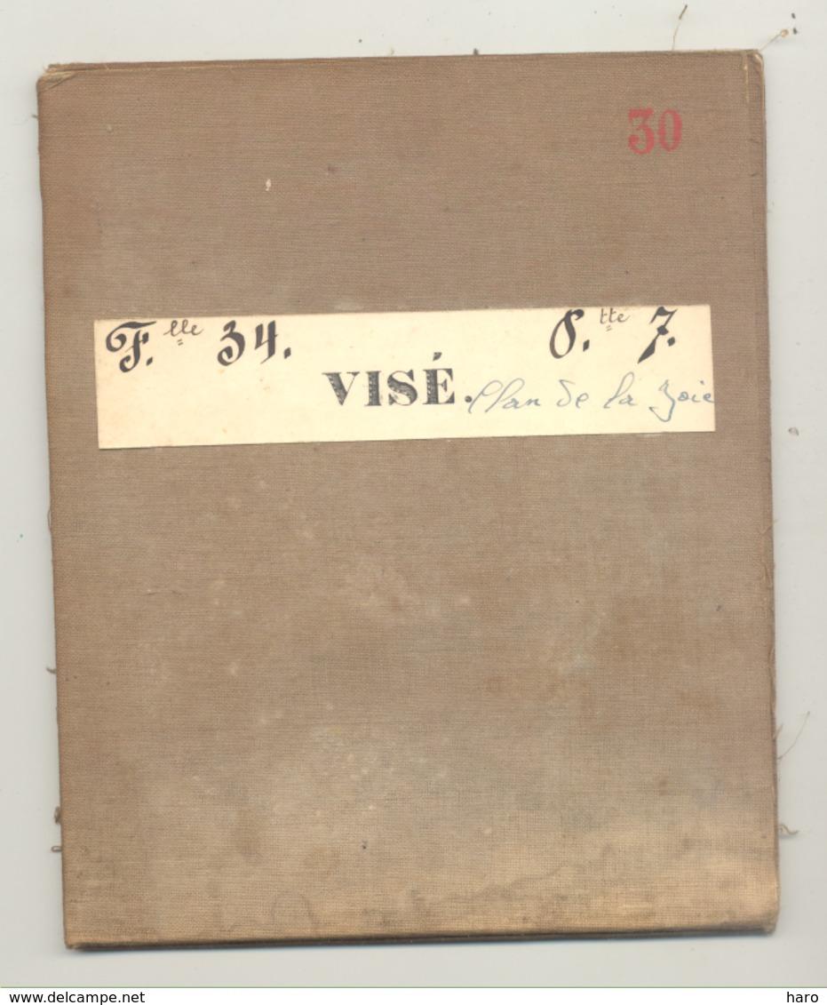 Carte De Géographie Toilée - VISE 1882 - Levée Et Nivelée 1872 (b271) - Geographical Maps