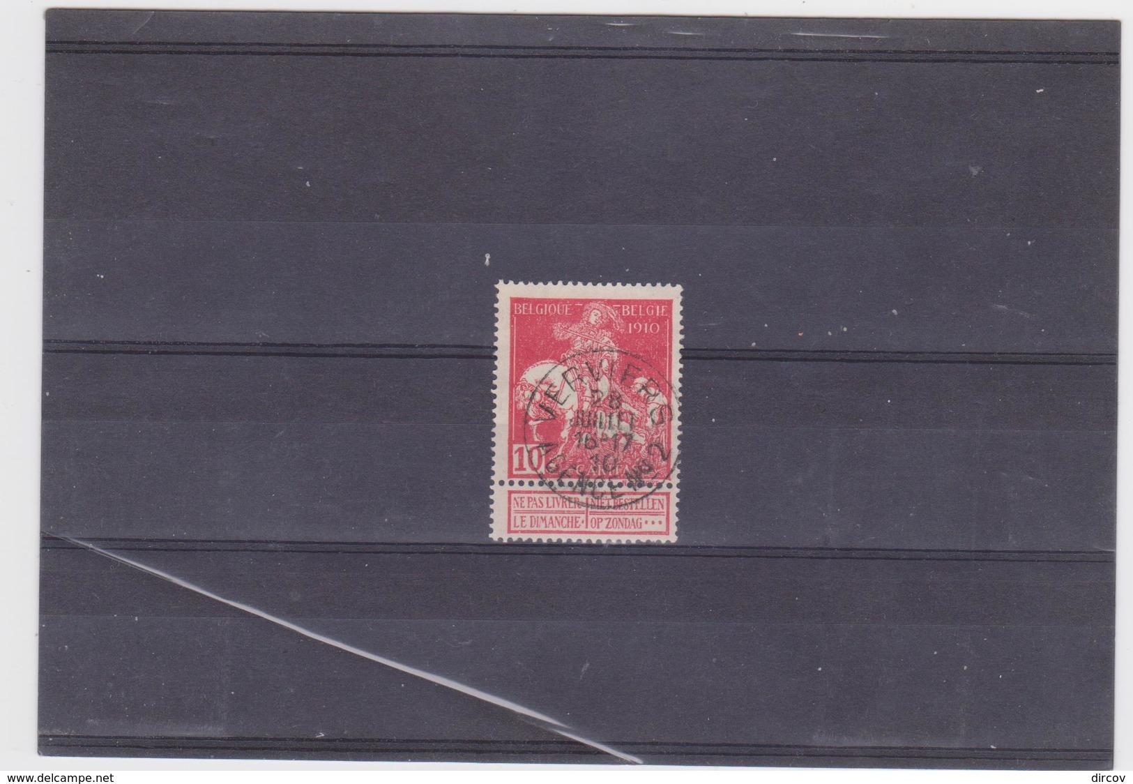 Belgie Nr 91 Verviers Agence N° 2 - 1910-1911 Caritas