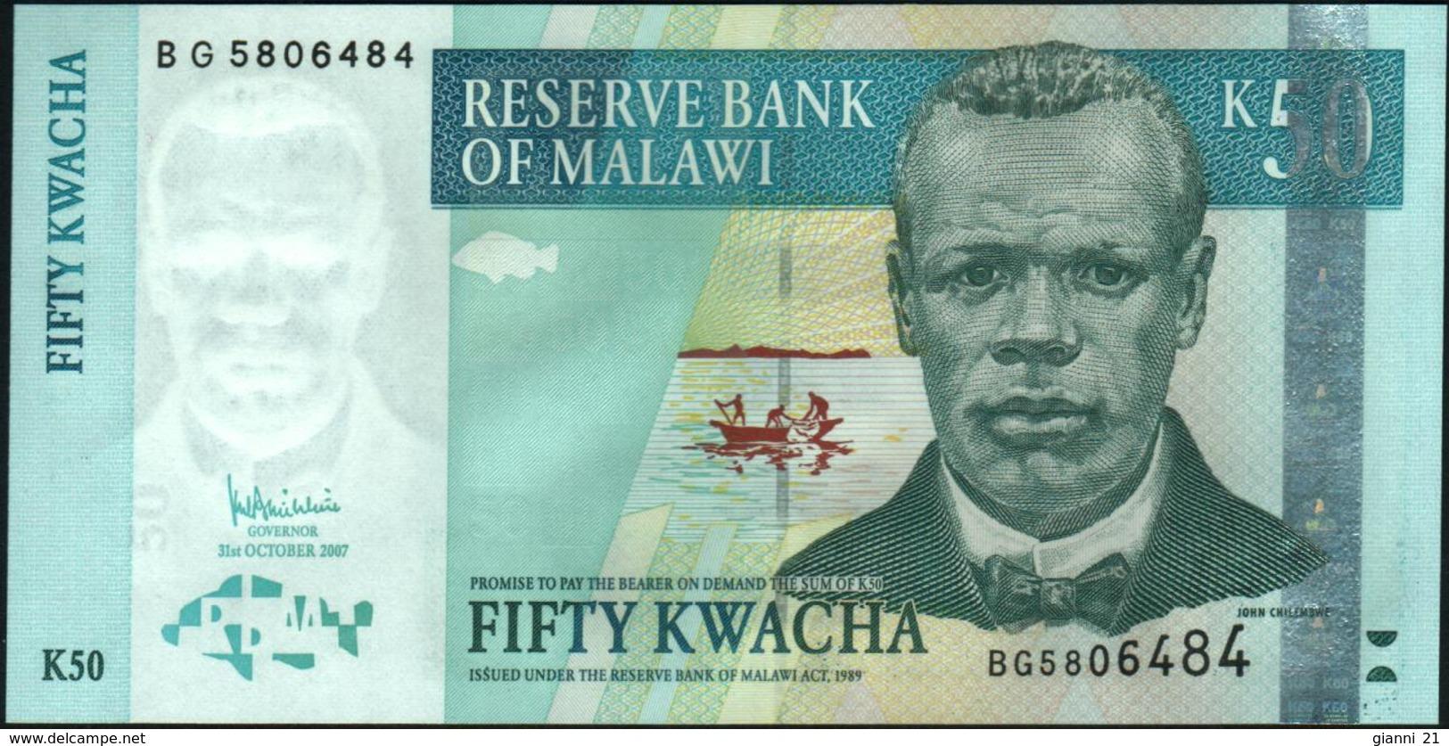 MALAWI - 50 Kwacha 31.10.2007 UNC P.53 C - Malawi
