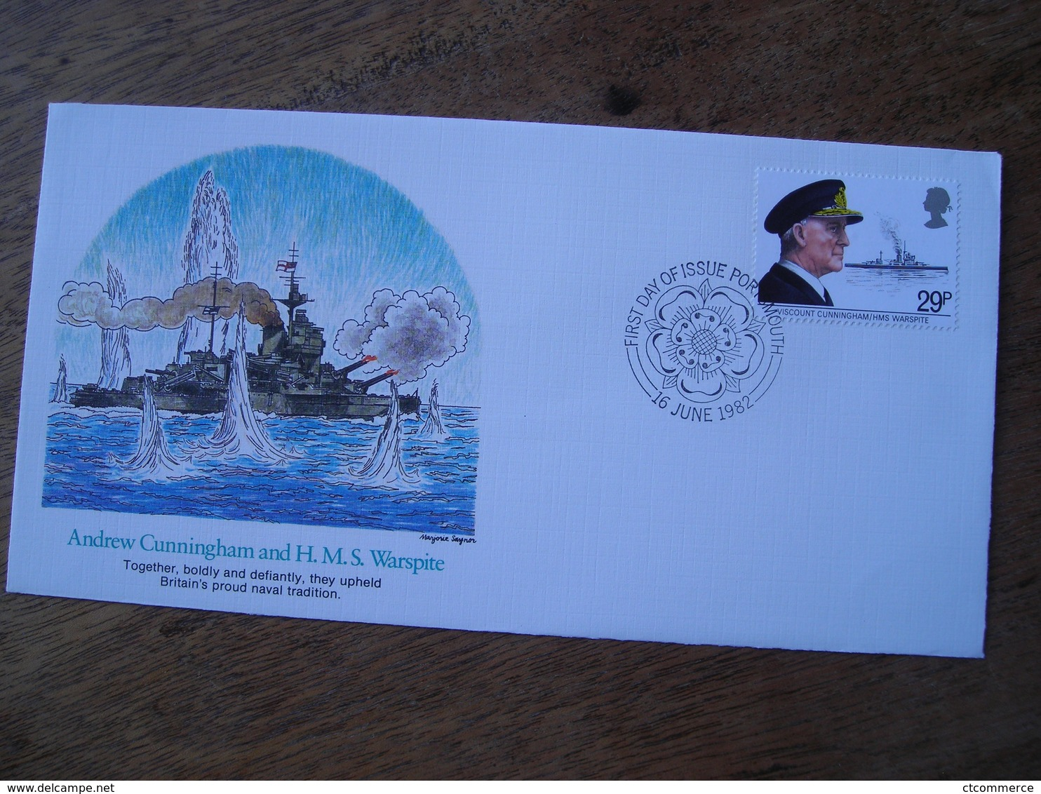 1982 FDC Andrew Cunningham And Et HMS Warspite - FDC