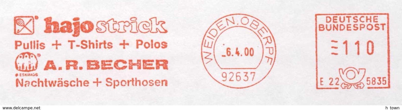 929  Tennis, Golf, Textile: Ema D'Allemagne, 2000 - Meter Stamp From Weiden, Germany - Tennis