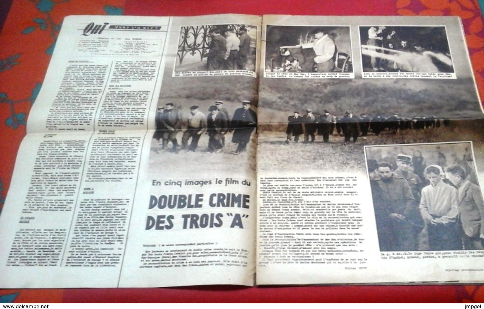 Qui Police N°37 Mars 1947 Démon Des Clochers Montfort Dinan Becherel,Tueurs Du Mardi Gras Pays Basque Louhossoa - 1900 - 1949