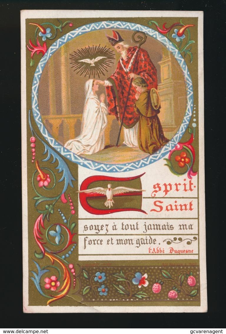 SOUVENIR DE MA PREMIERE COMMUNION ET DE MA CONFIRMATION GENT 1885 COLLEGE Ste BARBE - E.VANDEN BOSSCHE - Images Religieuses