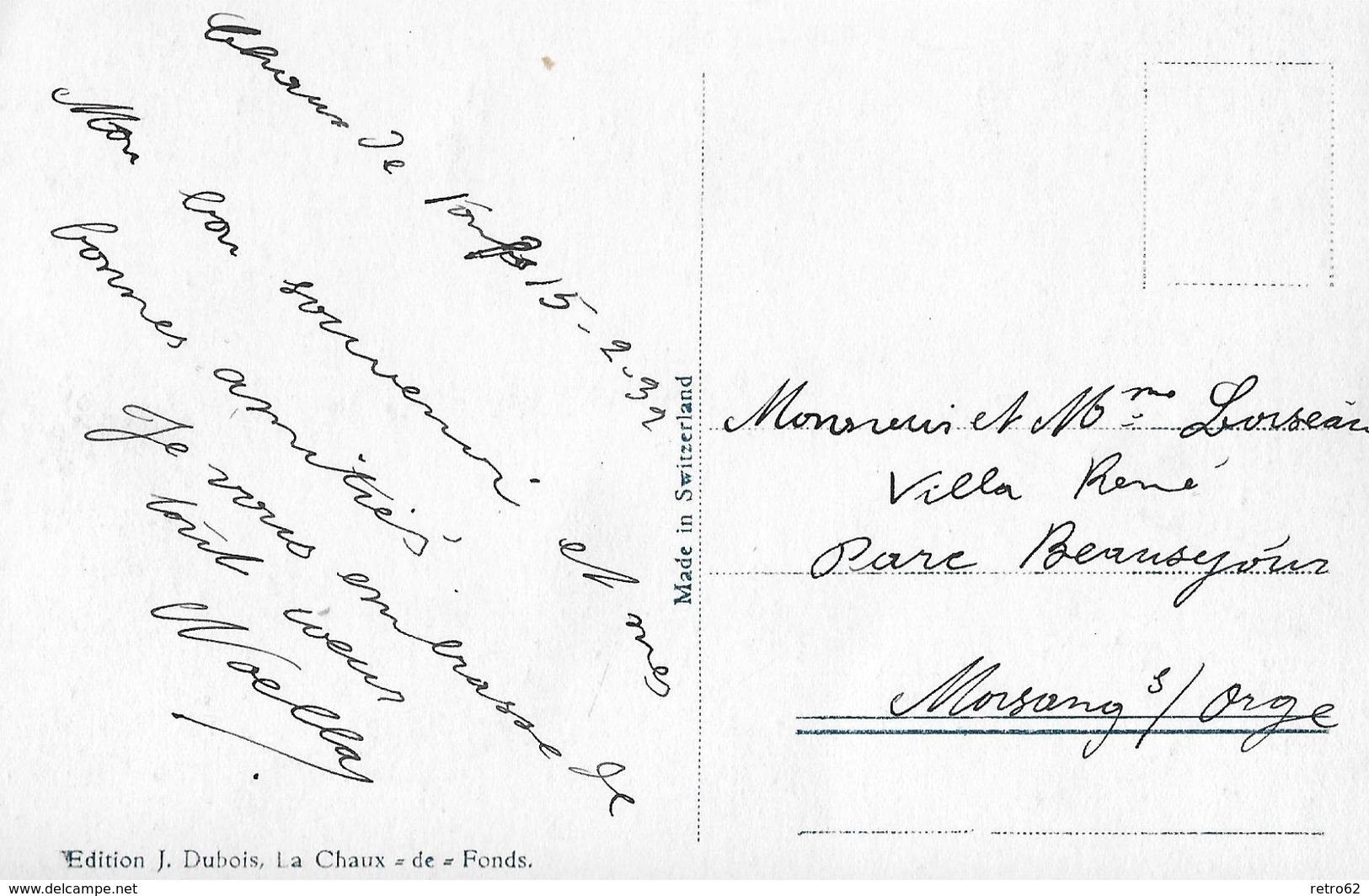 LA CHAUX-DE-FONDS → Rue Leopold Robert En Hiver / Im Tiefen Winter, Fotokarte Anno 1932 - NE Neuenburg
