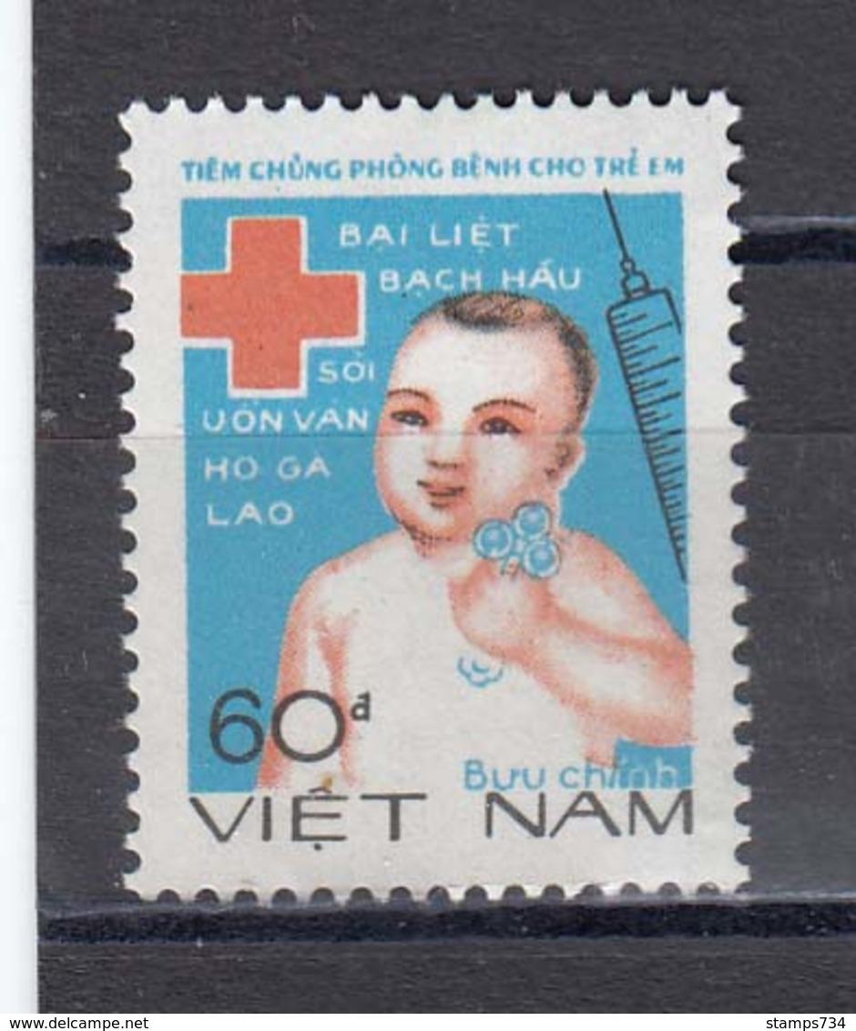Vietnam 1988 - Croix Rouge: Vaccination Des Enfants, Mi-Nr. 1932, MNH** - Vietnam