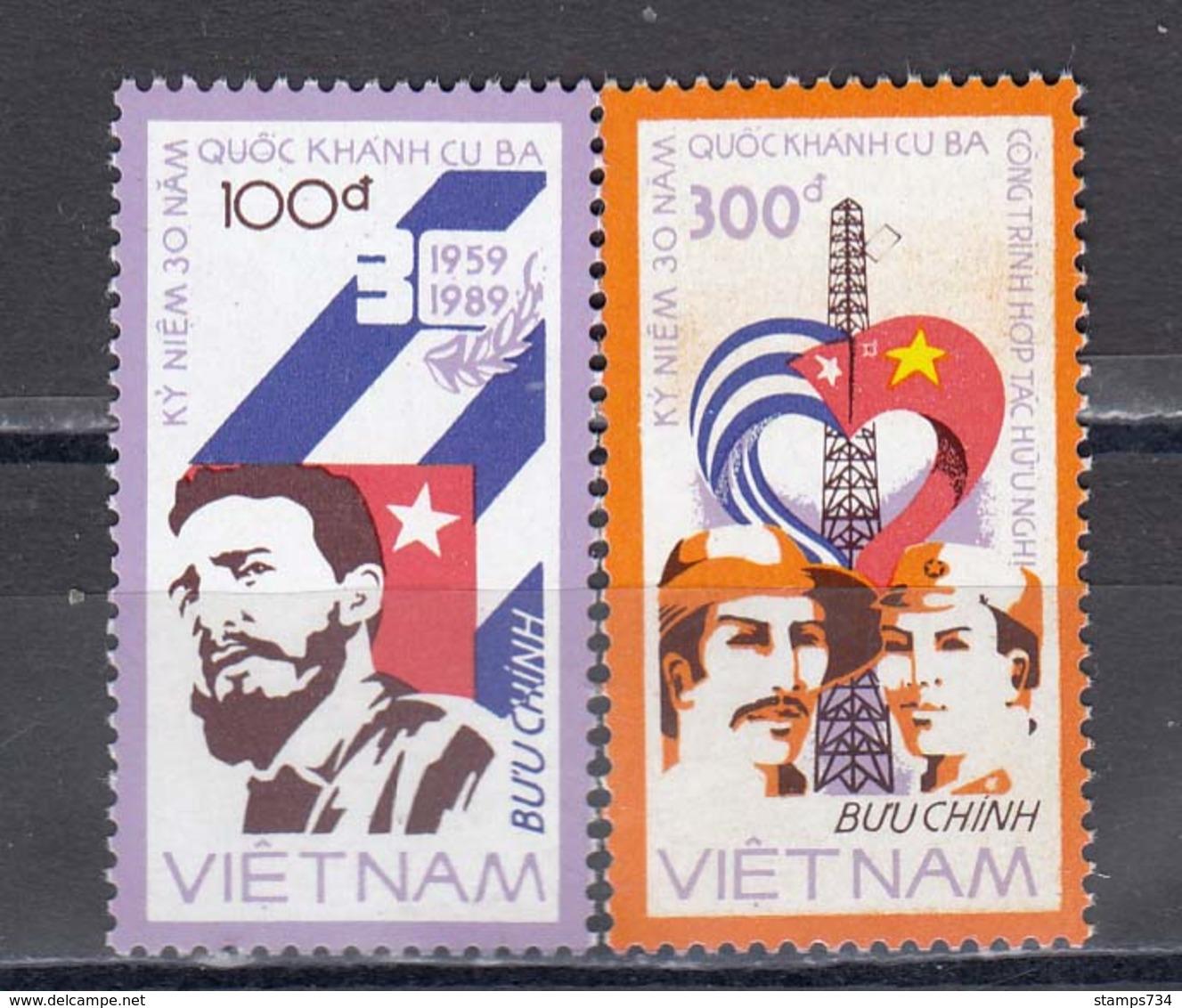 Vietnam 1988 - 30e Anniversaire De La Republique Cuba, Mi-Nr. 1948/49, MNH** - Vietnam