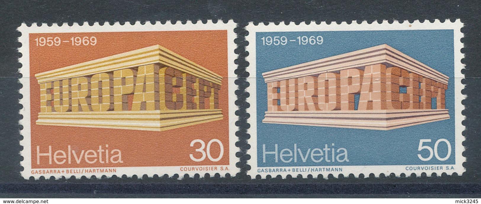 Suisse N°832 Et 833** Europa 1969 - Switzerland