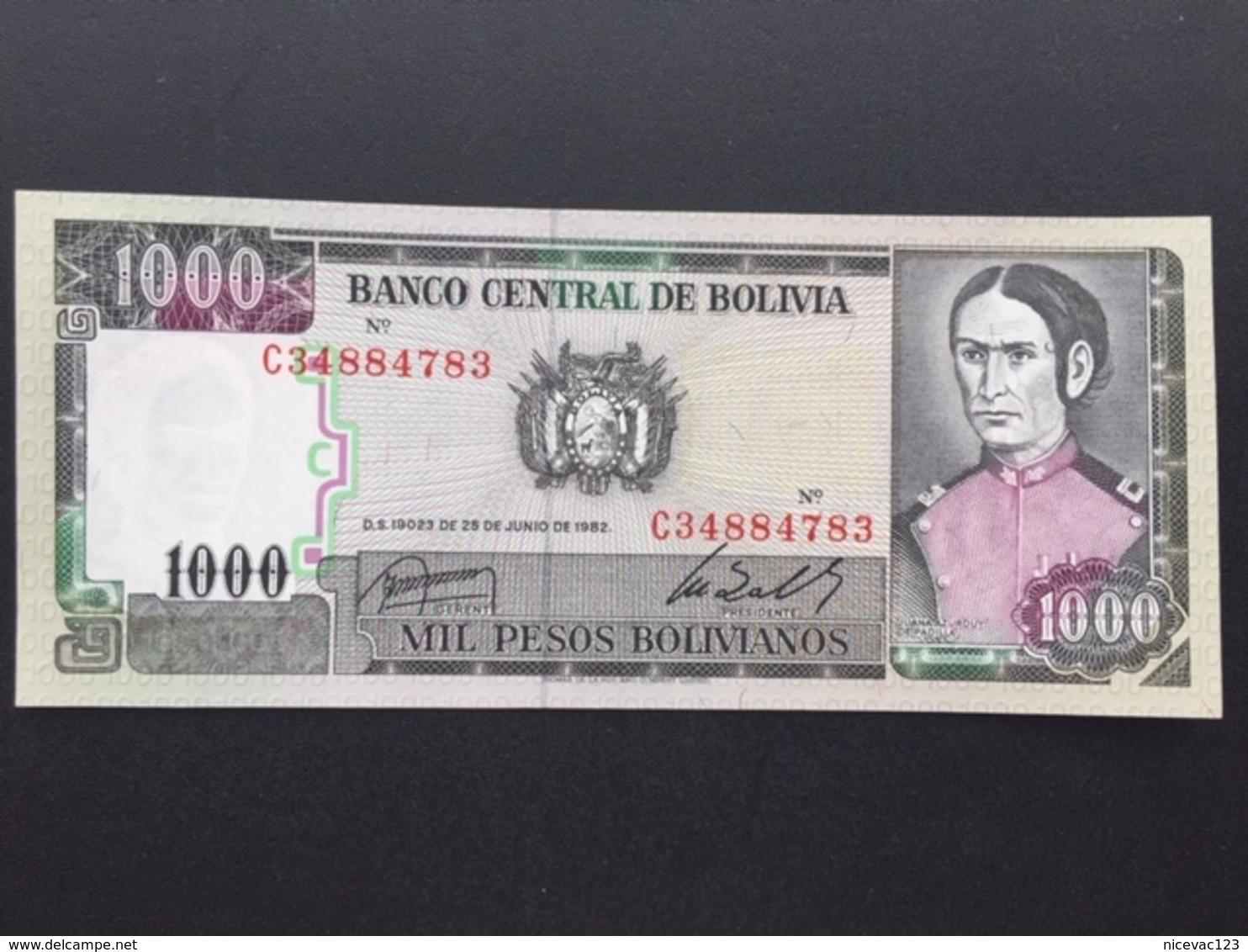 BOLIVIA P167 1000 PESOS 25.6.1982 UNC - Bolivia