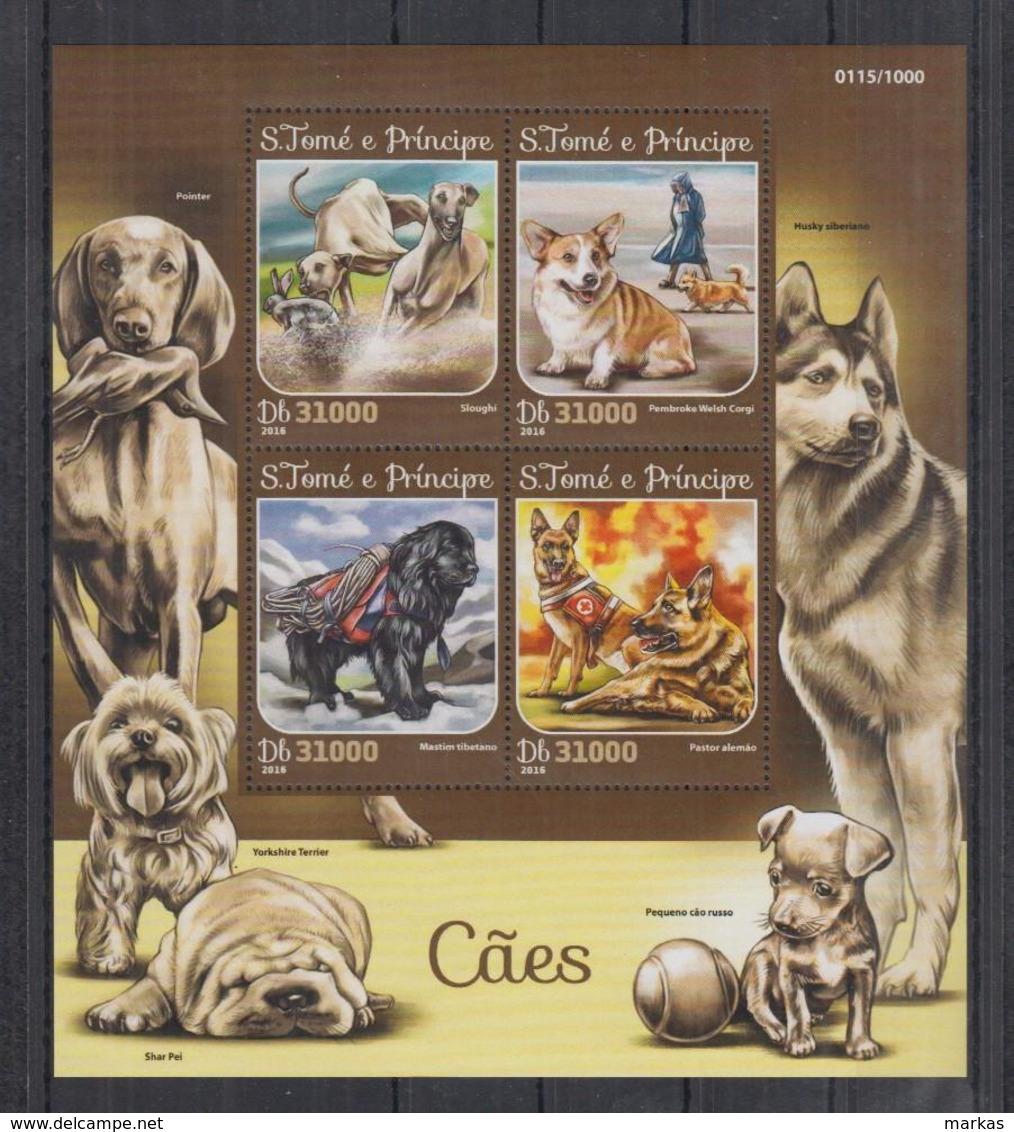 M323. S.Tome E Principe MNH - 2016 - Fauna - Animals - Pets - Dogs - Pflanzen Und Botanik