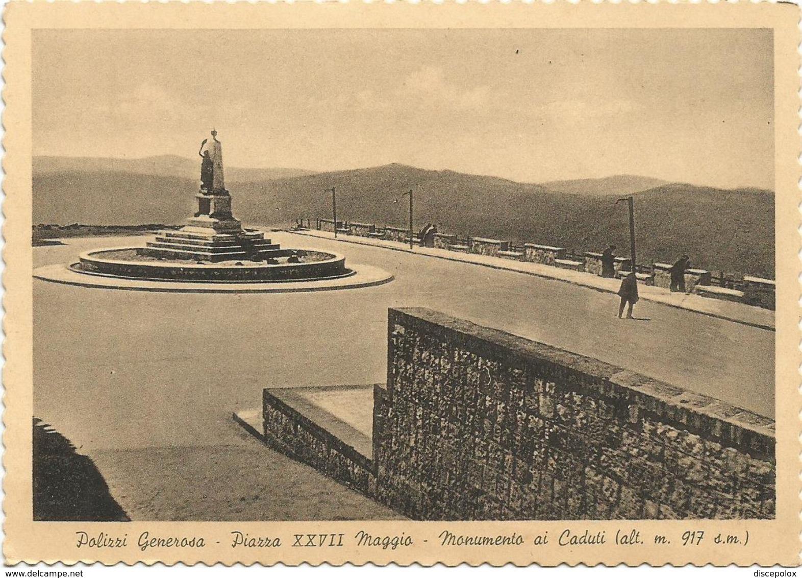 Y4660 Polizzi Generosa (Palermo) - Piazza XXVII Maggio - Monumento Ai Caduti E Panorama / Viaggiata 1957 - Italie