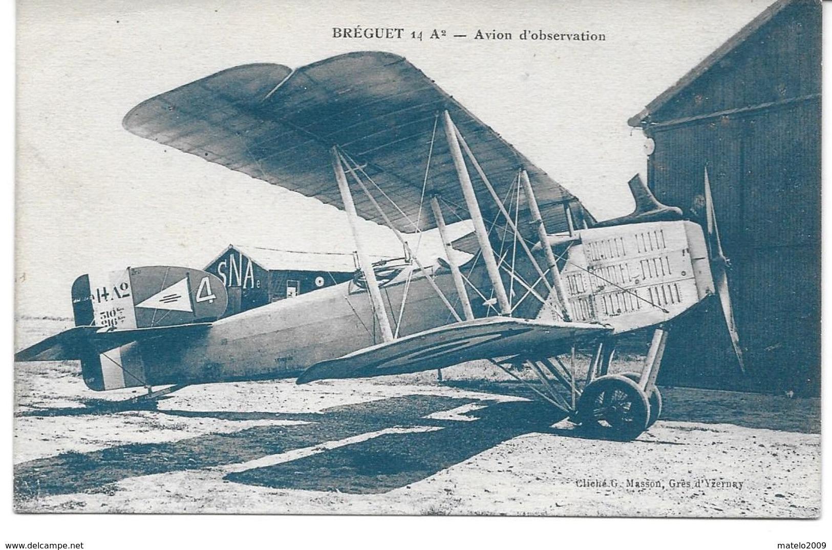 AVION - Avion D Observation BREGUET 14 A 2 - Avions