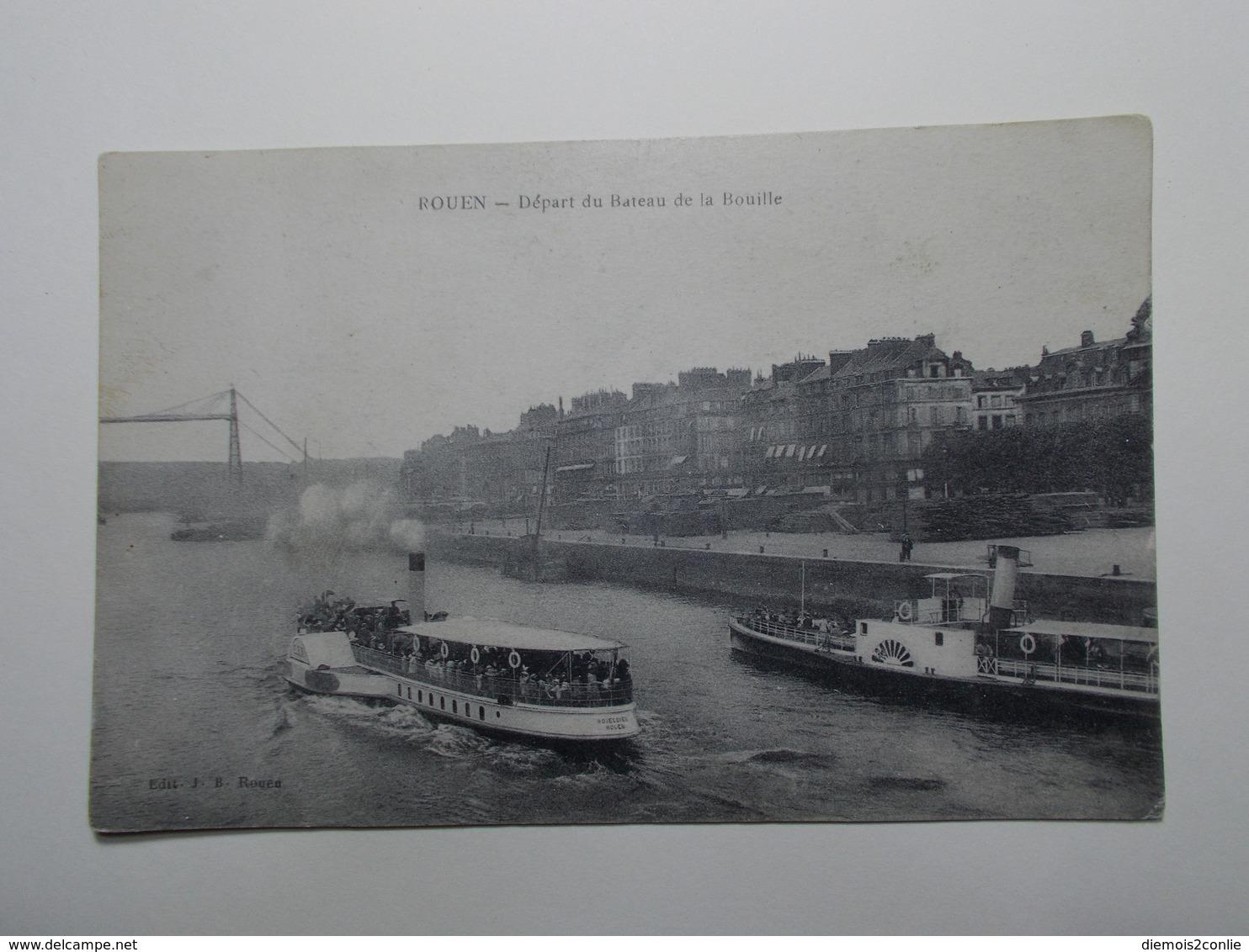 Carte Postale - ROUEN (76) - Départ Du Bateau De La Bouille (3774) - Rouen