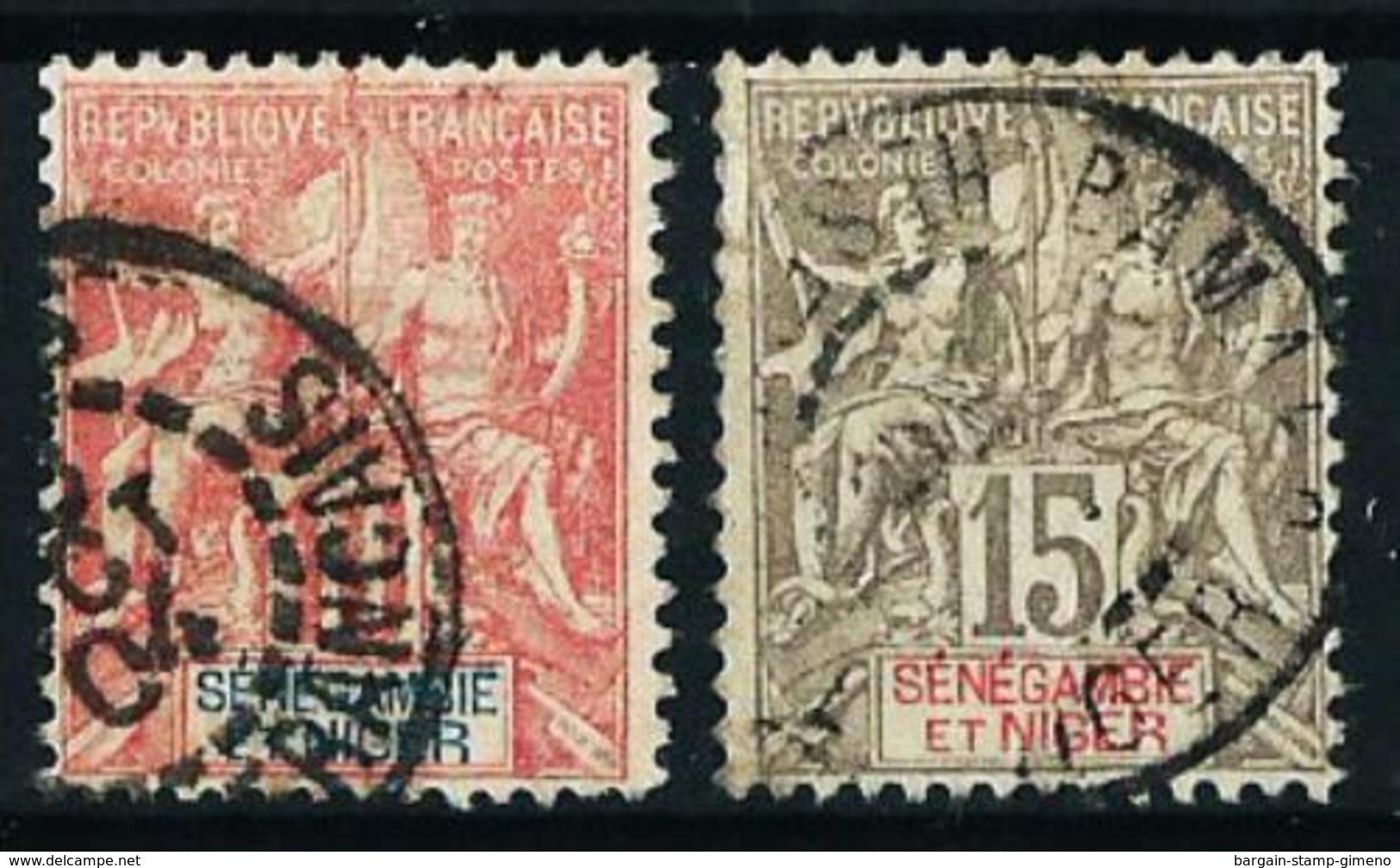 Senegambia Y Níger Nº 5/6 Usado Cat.23€ - Senegambia And Niger (1903-1906)