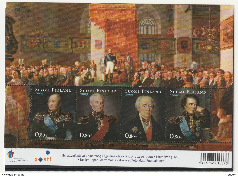 FINLANDE - N°1908/11 ** (2009) Bicentenaire De La Fondation Du Grand-duché De Finlande - Finlande