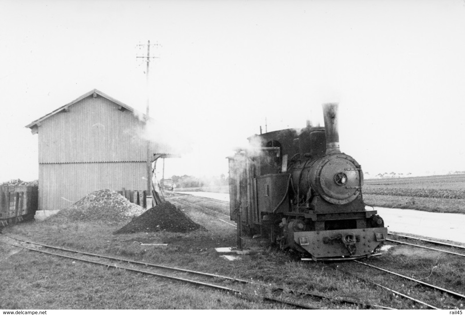 Guigneville. TPT : Tramway Pithiviers - Toury. Cliché Jacques Bazin. 17-10-1964 - Trains