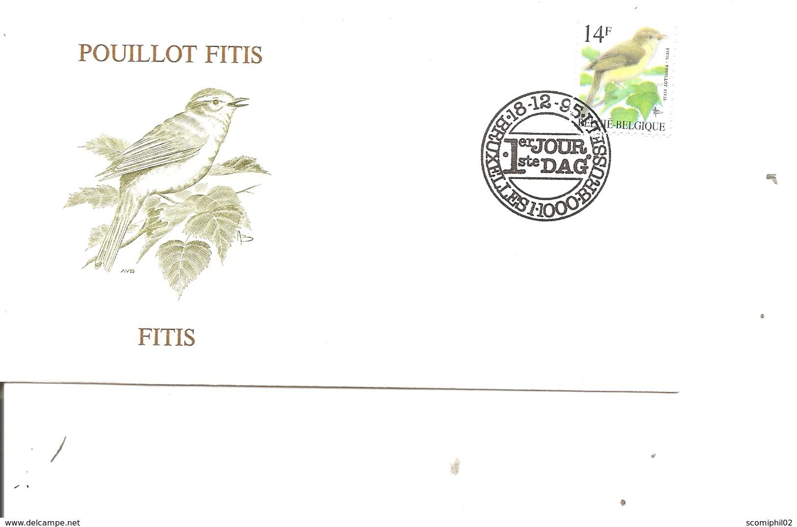 Oiseaux - Buzin - Pouillot Fitis ( FDC De Belgique De 1995 à Voir) - Non Classés