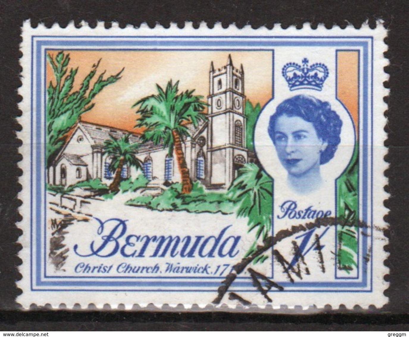 Bermuda Elizabeth II 1962 Single 1/- Stamp From The Definitive Set. - Bermuda
