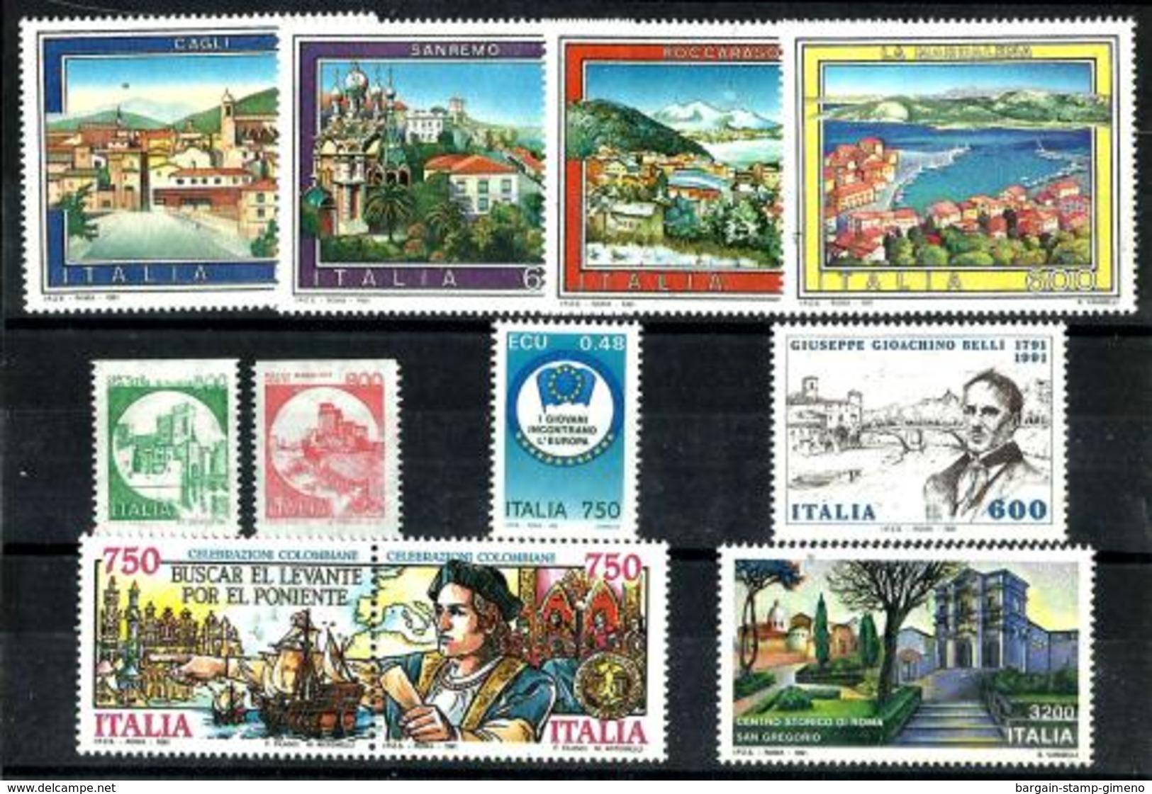 Italia Nº 1901/11 Nuevos. Cat.19€ - 6. 1946-.. Republic