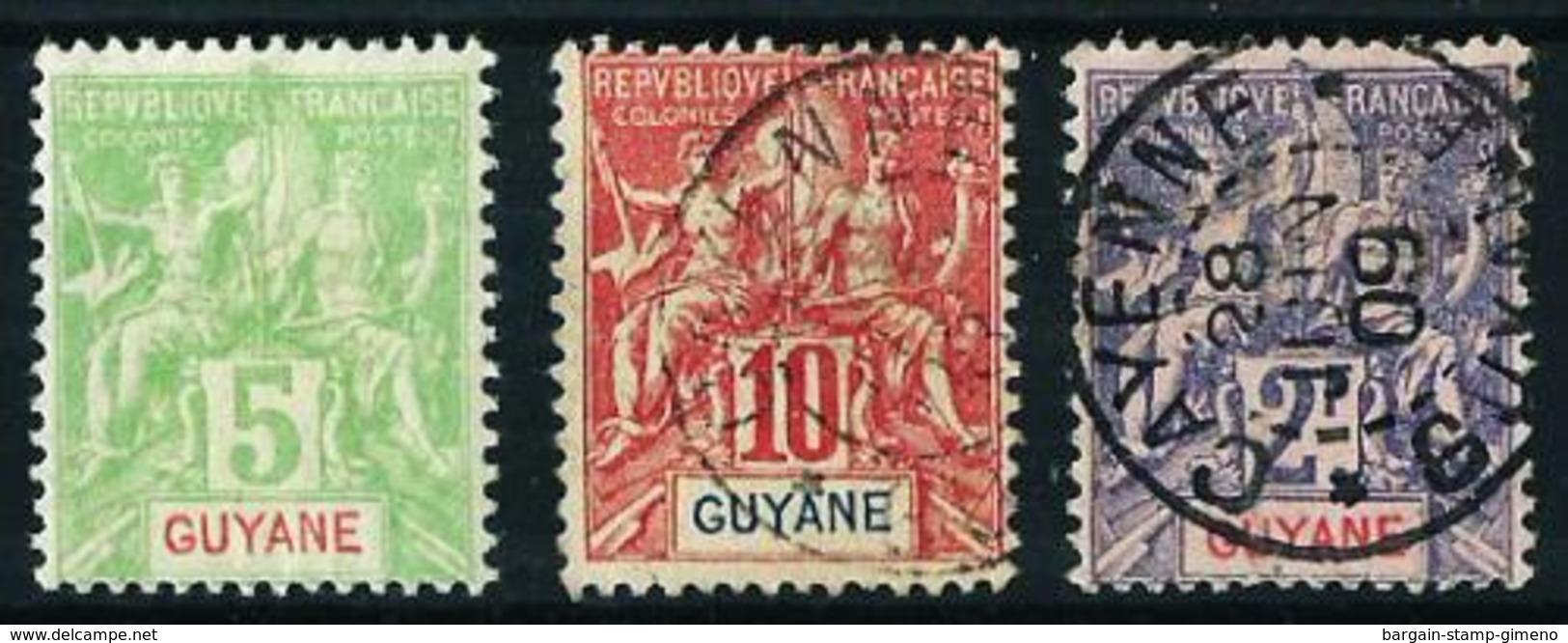 Guayana (Francesa) Nº 43* 44º 48º - French Guiana (1886-1949)