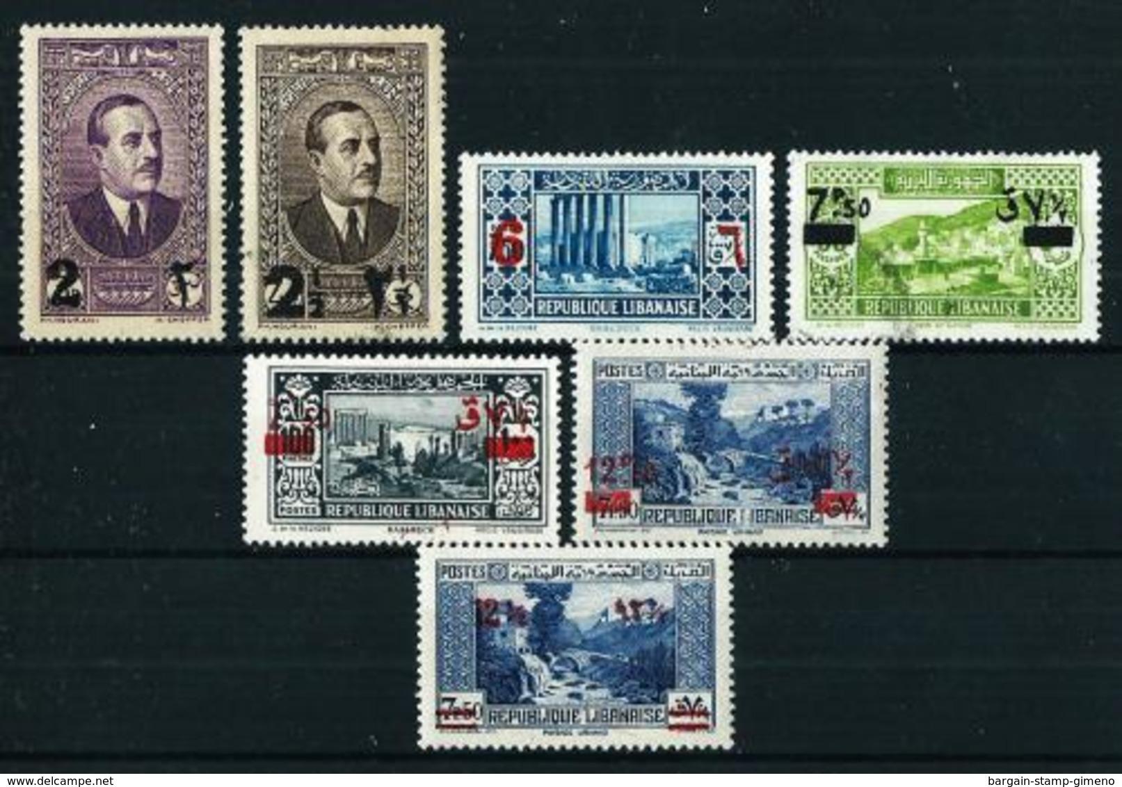 Gran Líbano (Francés) Nº 157/63*/(*)/º - Great Lebanon (1924-1945)