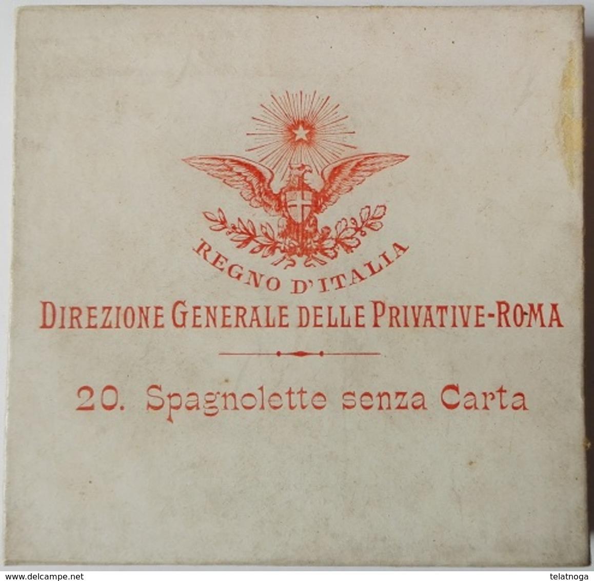 RARISSIMA SCATOLINA PIENA SIGILLATA SIGARETTE SPAGNOLETTE SENZA CARTA 1910 - Schnupftabakdosen (leer)