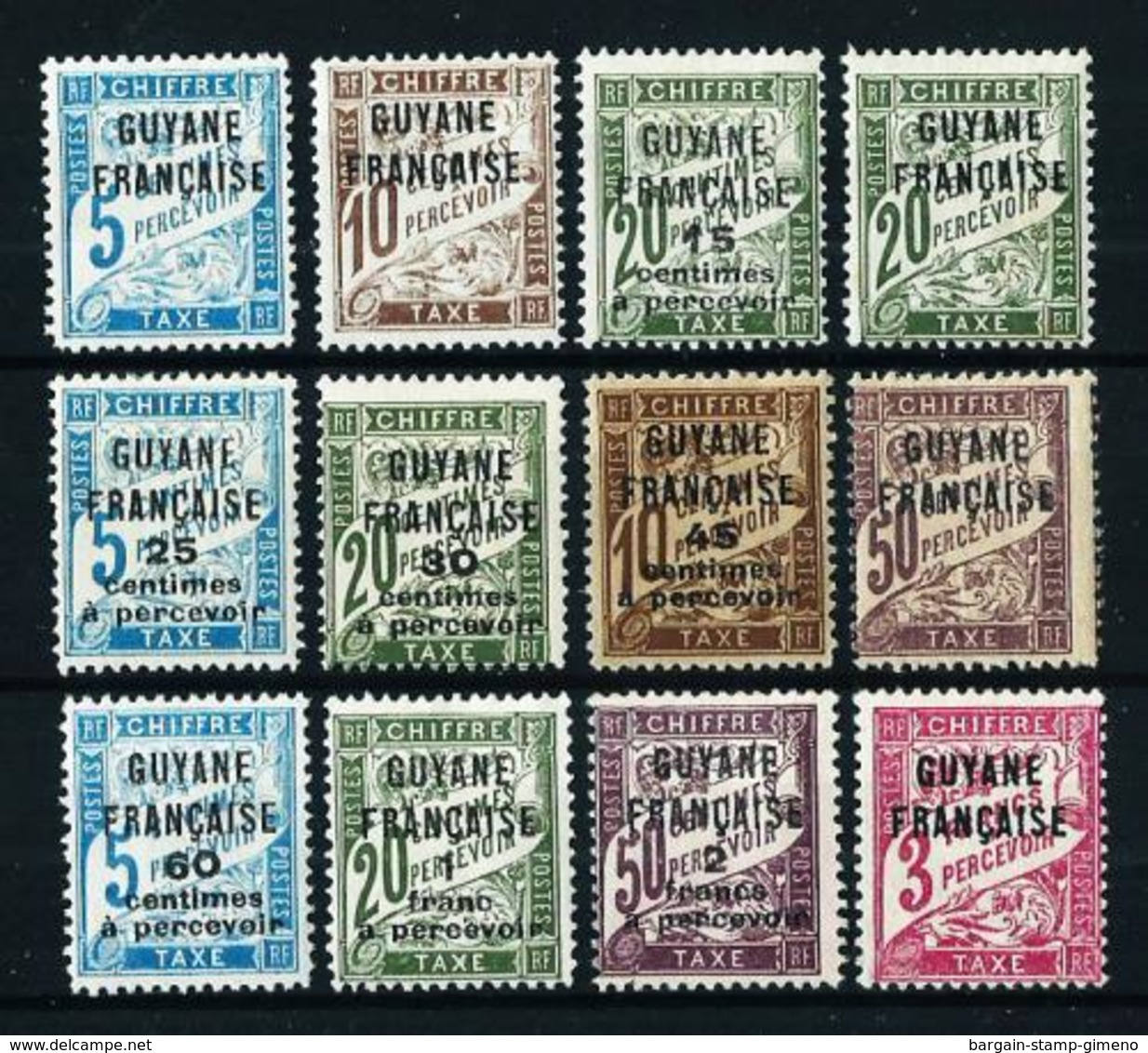 Guayana (Francesa) Nº Tasa-1/12 Nuevo*/(*) - Unused Stamps
