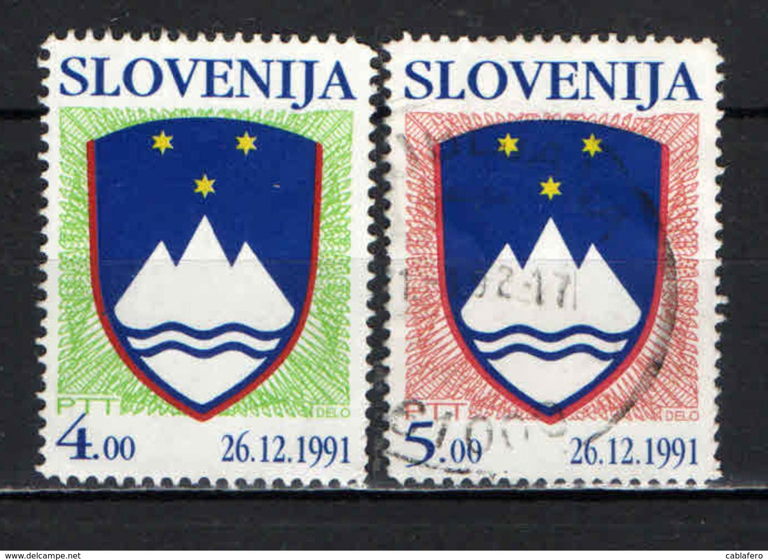 SLOVENIA - 1993 - STEMMA NAZIONALE - USATI - Slovenia