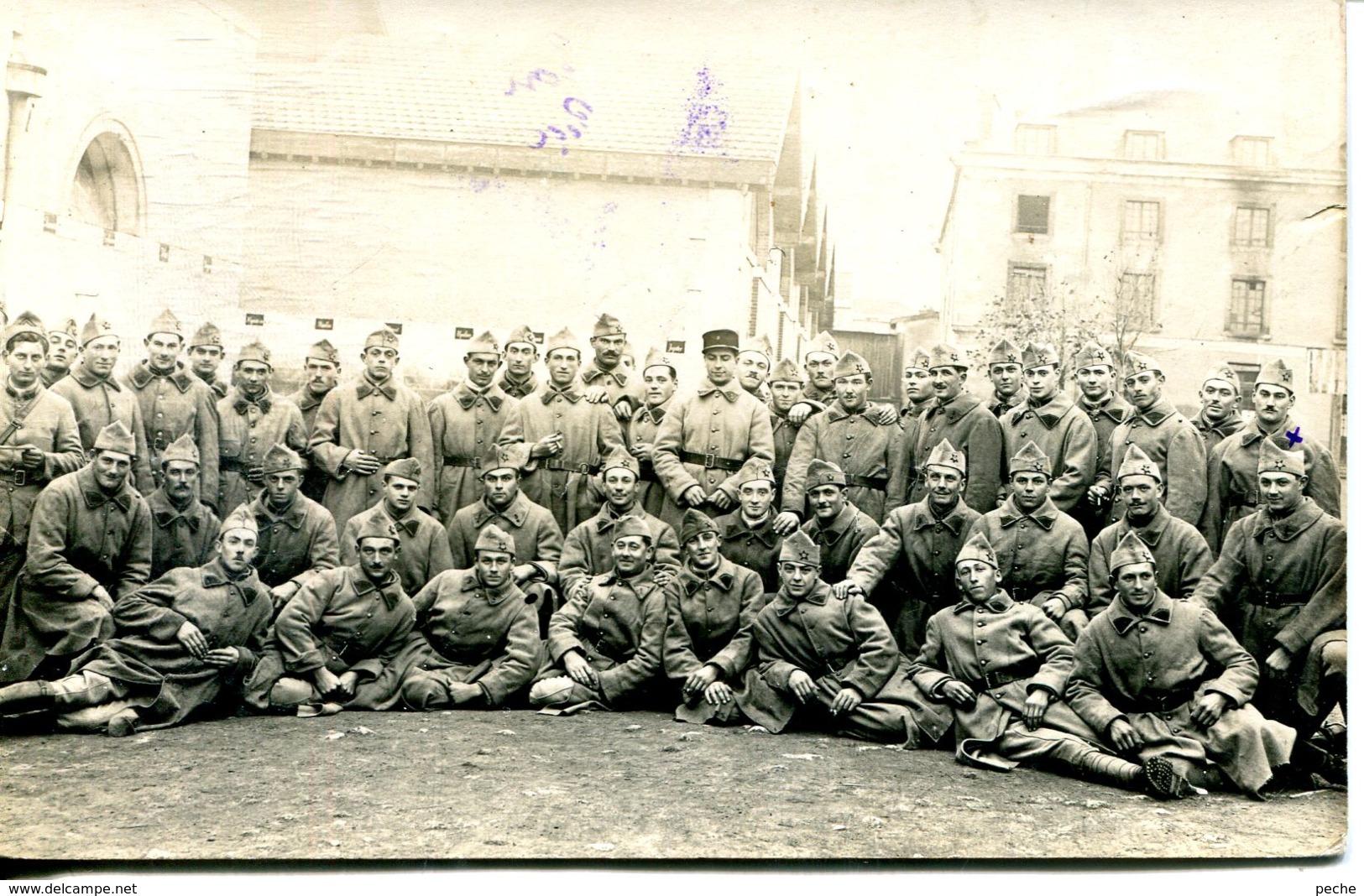 N°491 T -carte Photo 5è DC 4è Baterie à Fontainebleau - Regiments