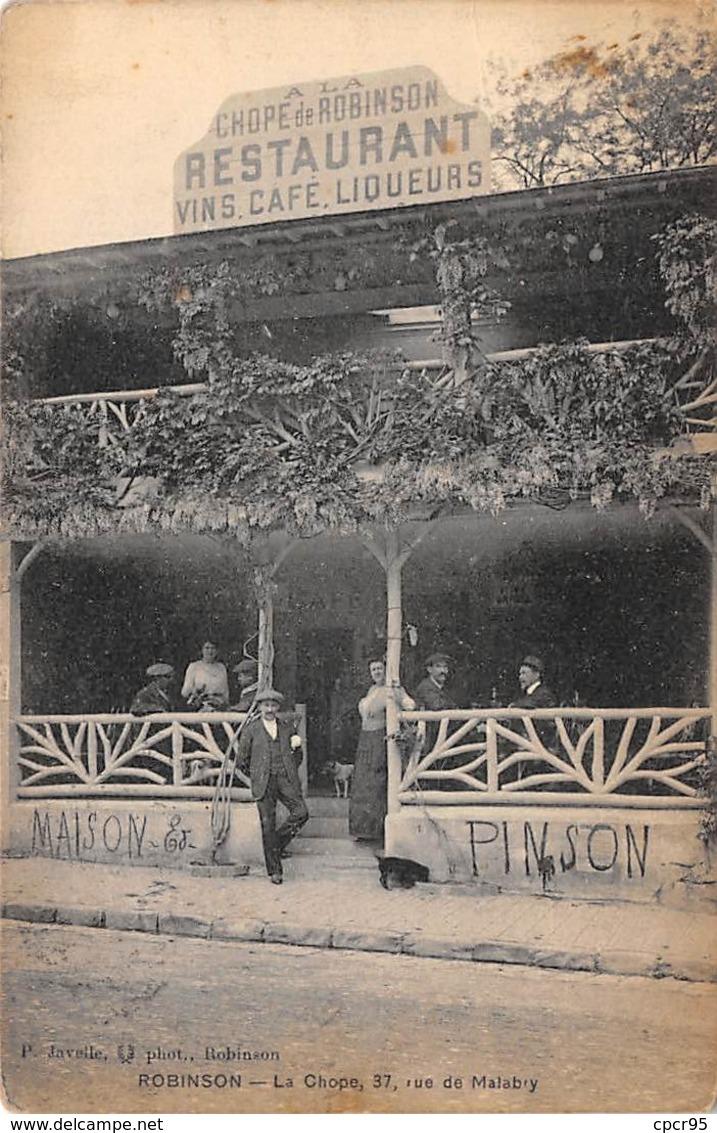 92 .n°  107931  .  Sceaux . Cafe Restaurant . A La Chope De Robinson . - Sceaux