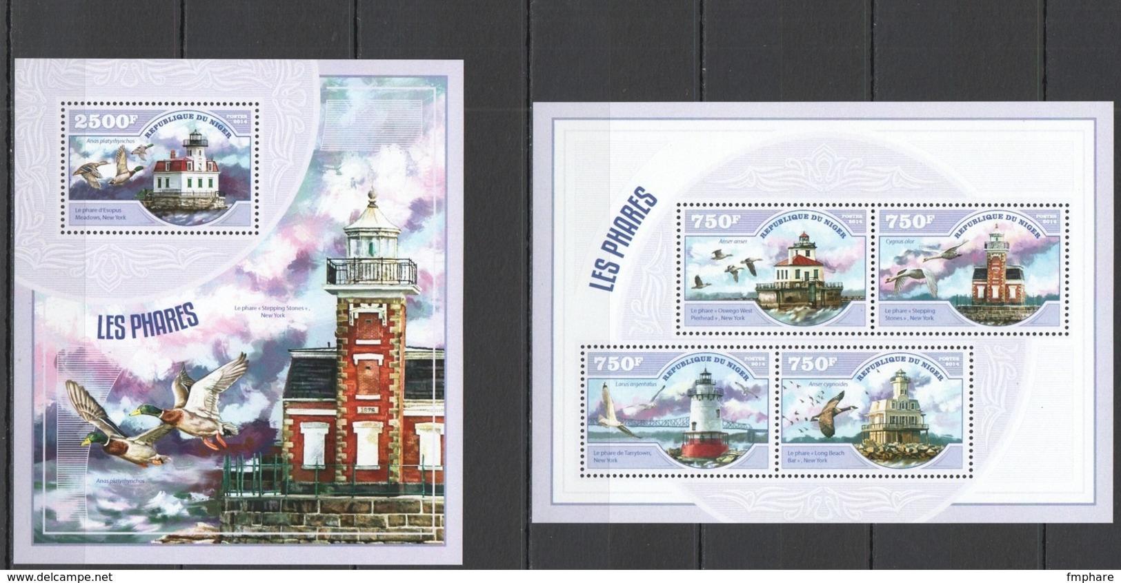 Phare Lighthouse Vuurtoren Leuchttürme Faro Fari NIGER 2014 NEUF** MNH - Faros
