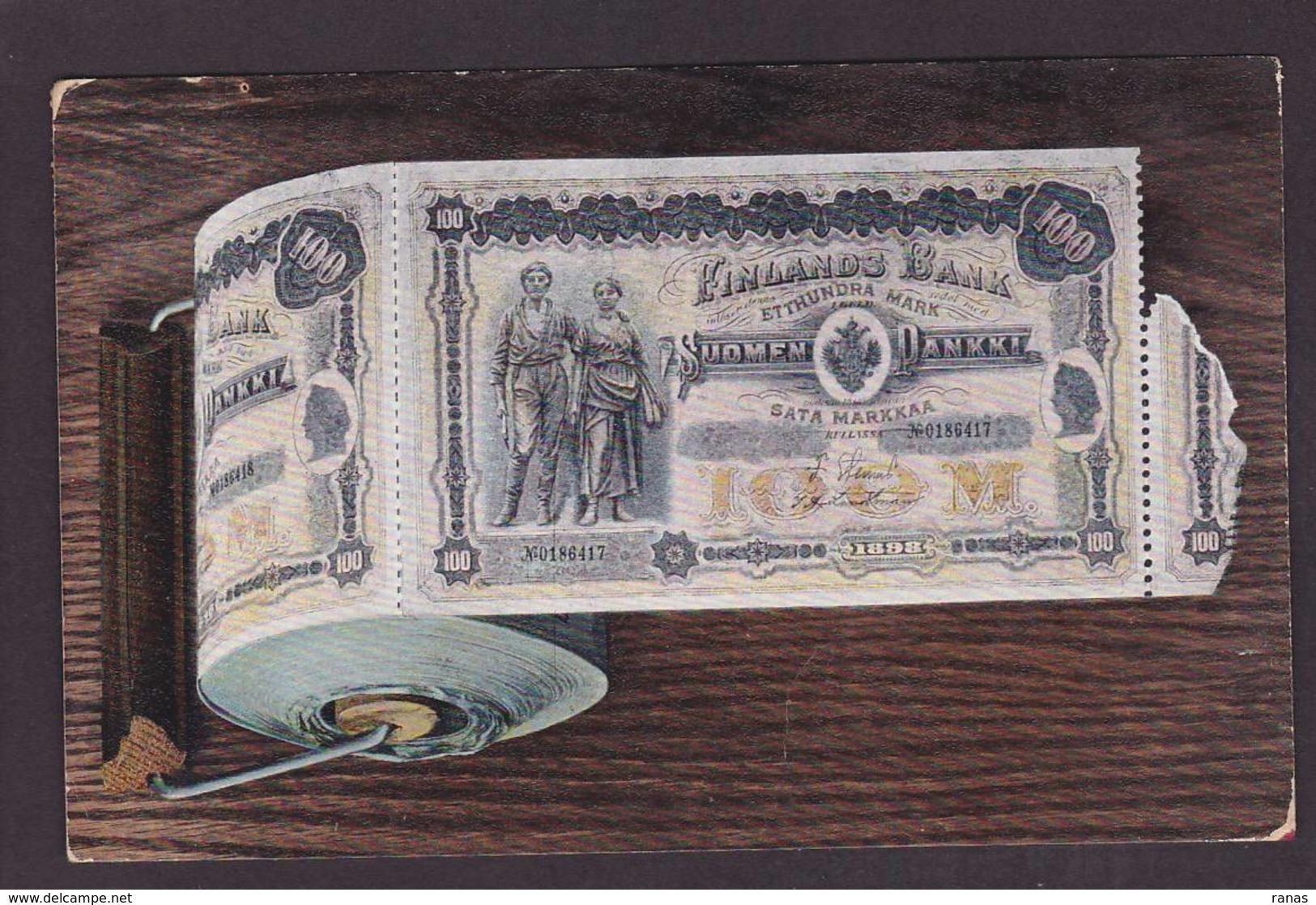 CPA Billet De Banque Banknote Circulé Finlande Finland Circulé Scatologie Satirique - Monnaies (représentations)