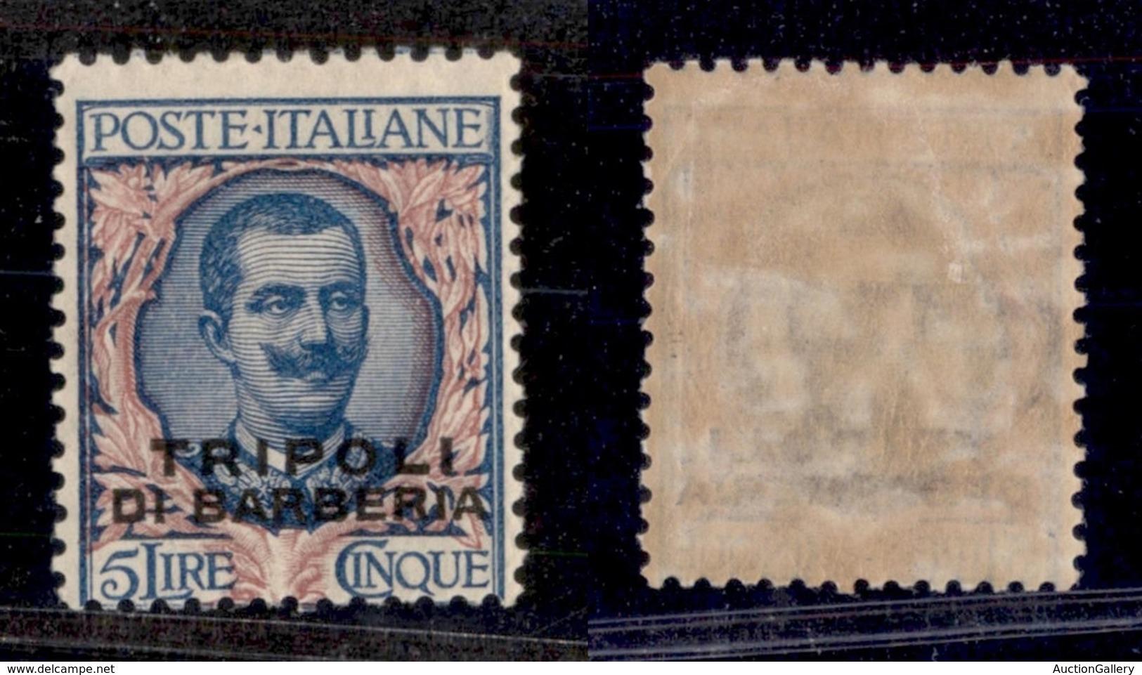 Levante - Tripoli Di Barberia - 1919 - 5 Lire (10) - Gomma Originale (60) - Non Classificati