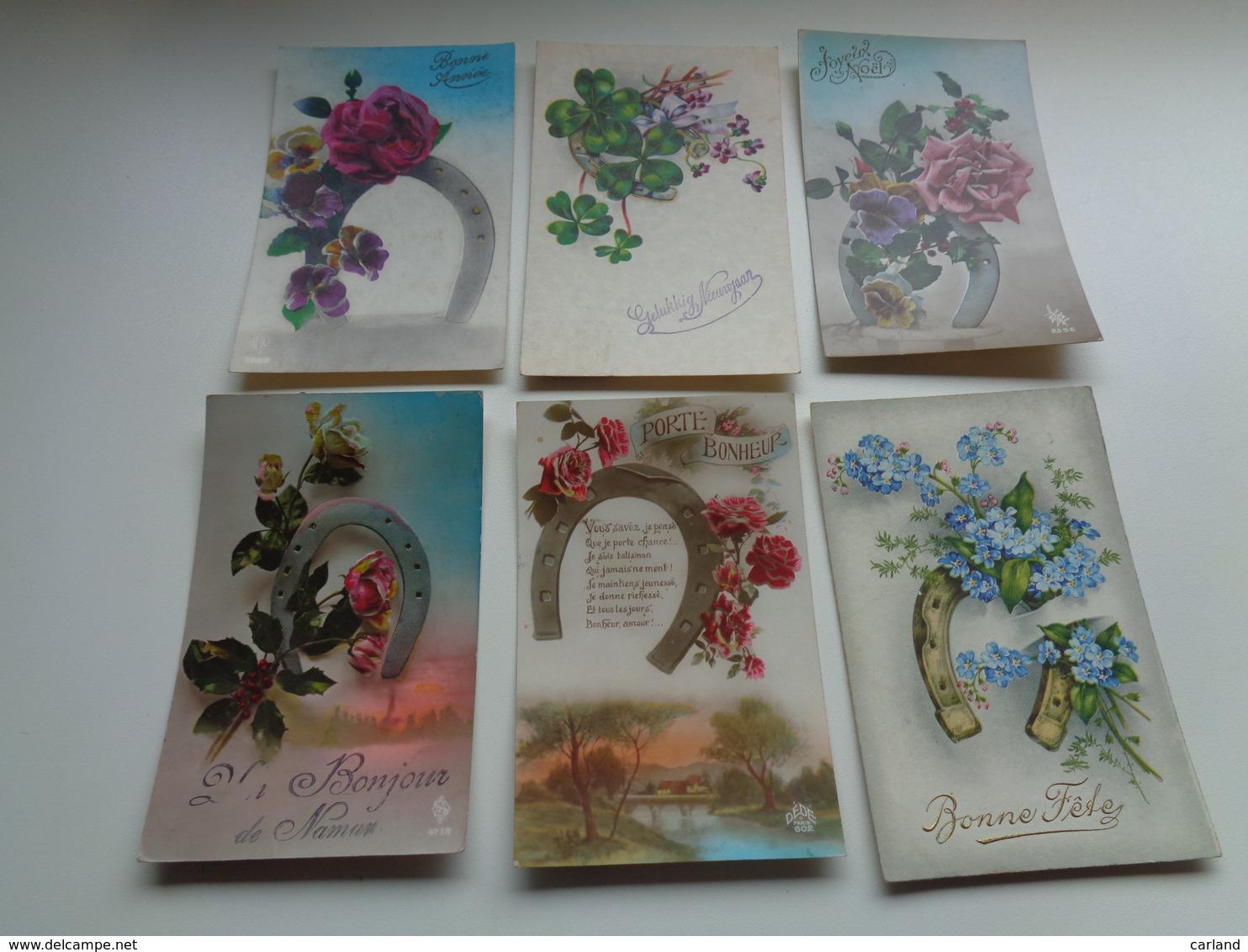 Beau Lot De 60 Cartes Postales De Fantaisie Fer à Cheval    Mooi Lot Van 60 Postkaarten Fantasie Hoefijzer  - 60 Scans - Cartes Postales