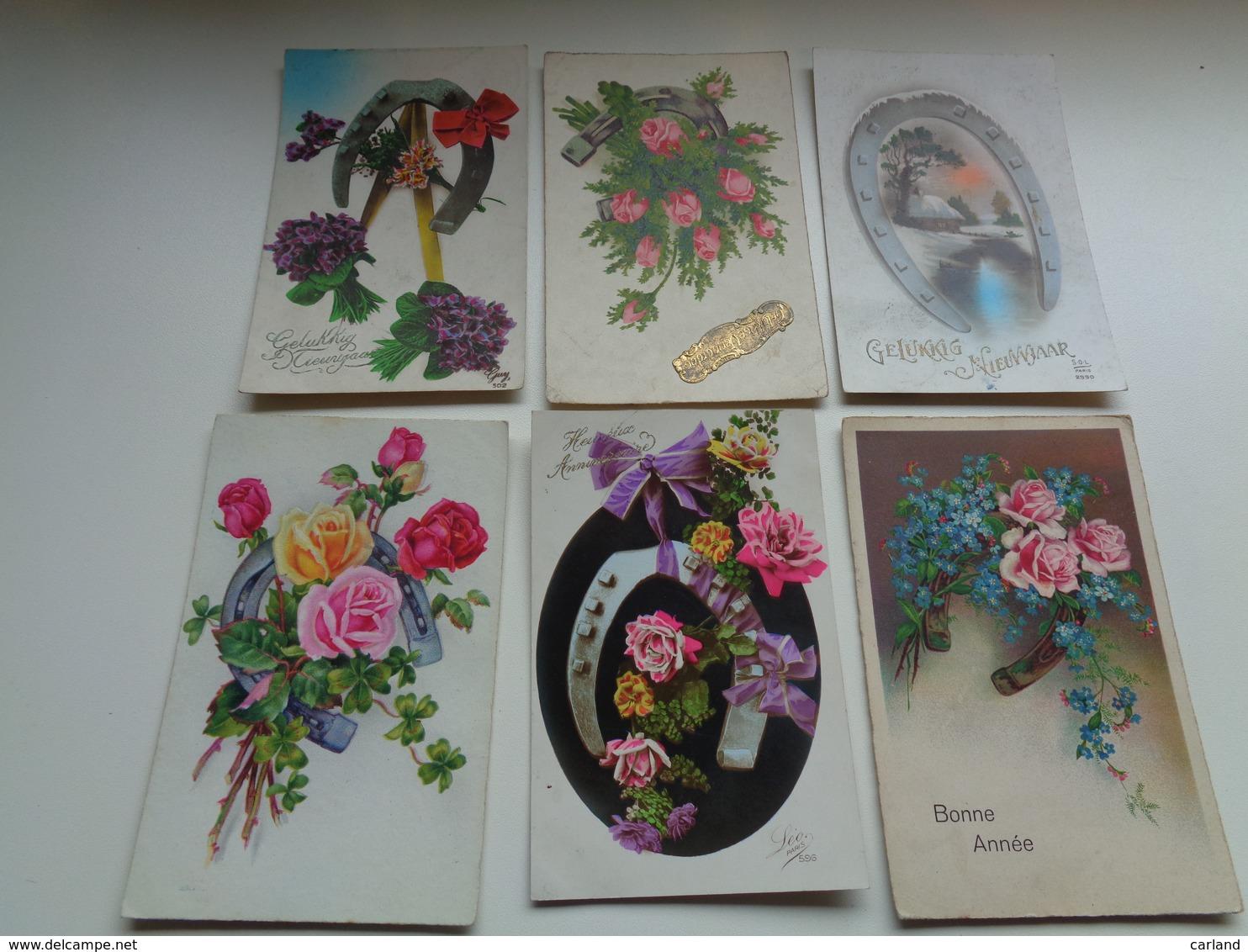 Beau Lot De 60 Cartes Postales De Fantaisie Fer à Cheval    Mooi Lot Van 60 Postkaarten Fantasie Hoefijzer  - 60 Scans - 5 - 99 Cartes