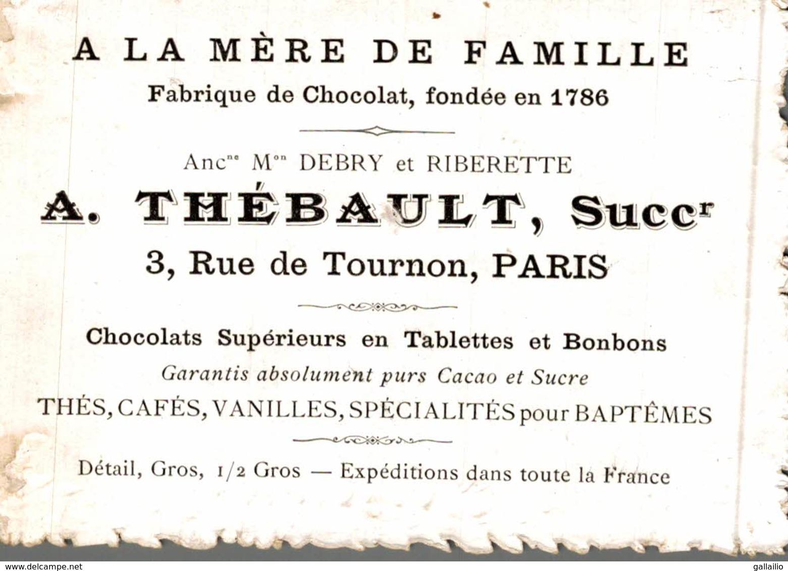CHROMO CHOCOLAT THEBAULT A LA MERE DE FAMILLE - Chocolat