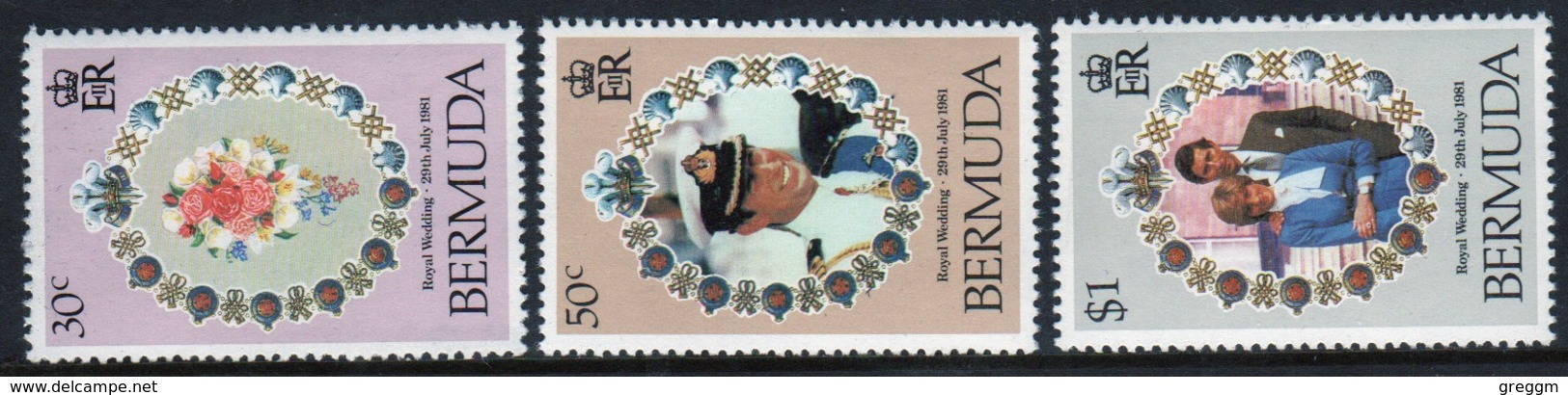 Bermuda Elizabeth II 1981 Set Of Stamps To Celebrate Royal Wedding. - Bermuda