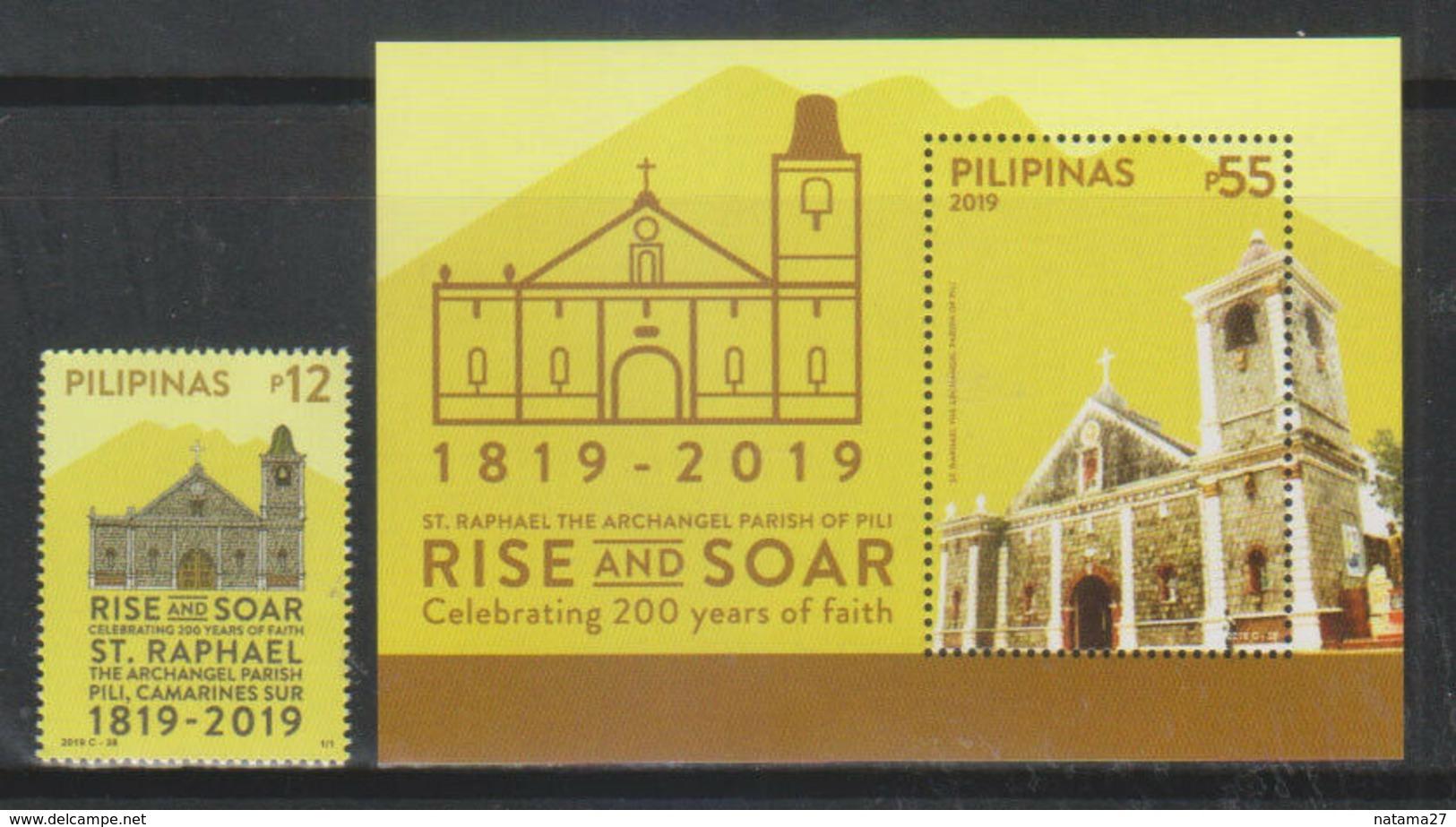 Filippine Philippines Philippinen Pilipinas 2019 St. Raphael, The Archangel Parish - Bicentennial Set + SS -  MNH** - Filippine