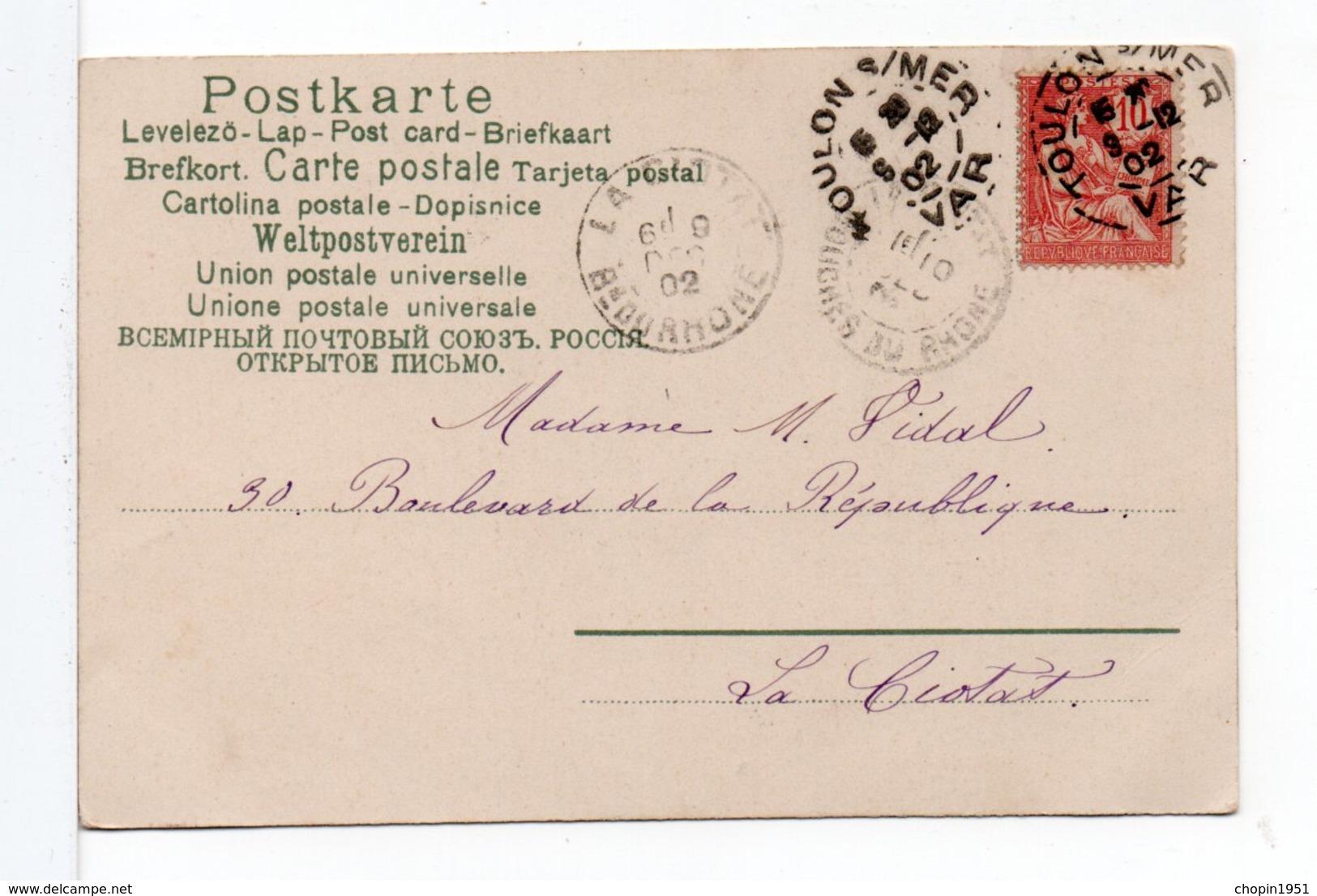 CPA - COUPLE D'ENFANTS - 1900-1949