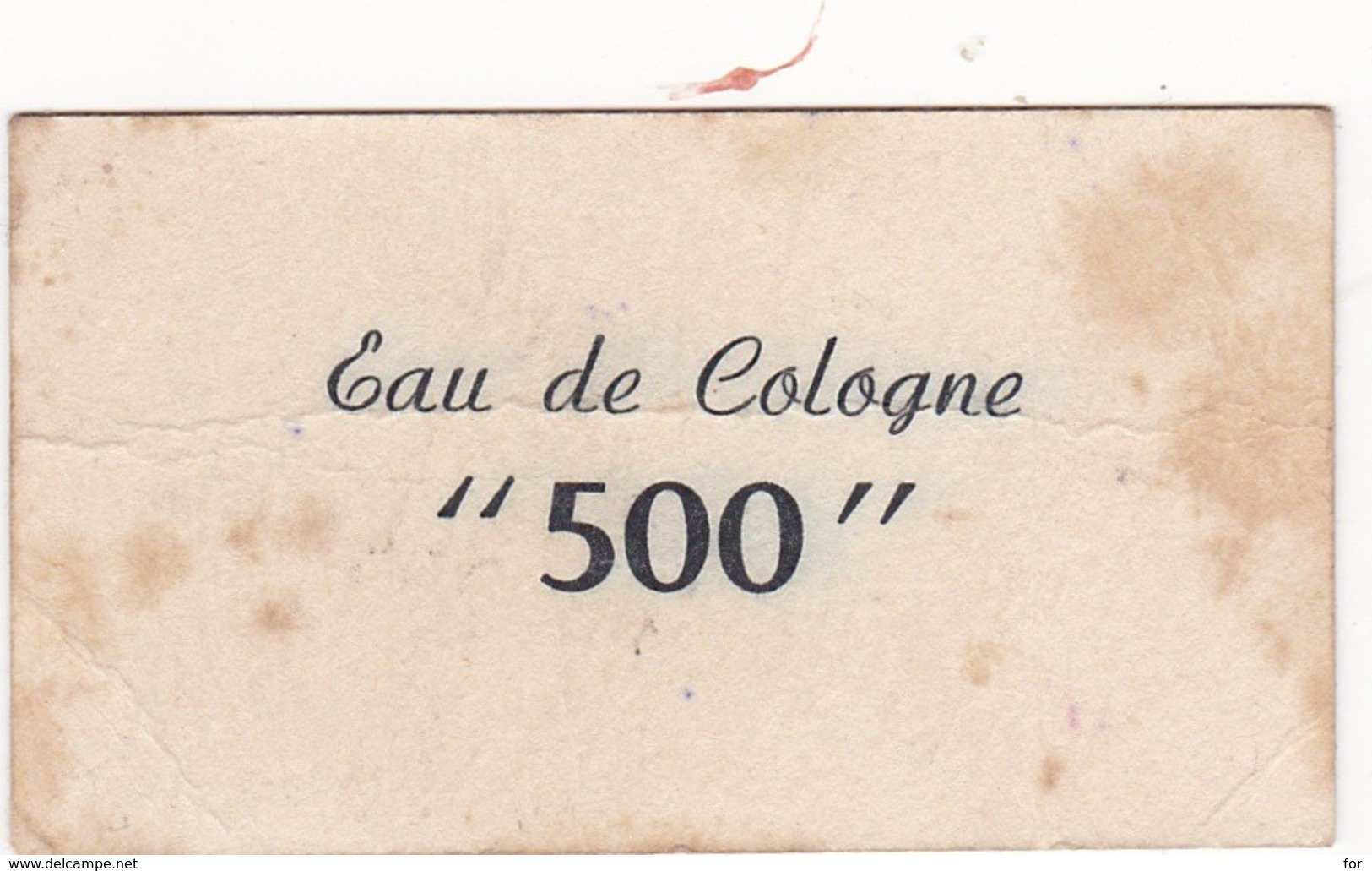 Publicité : Carte Parfumée : Les Spécialistes De : VARGI - Eau De Cologne 500 - Format : 8cm X 4,5cm - Reclame