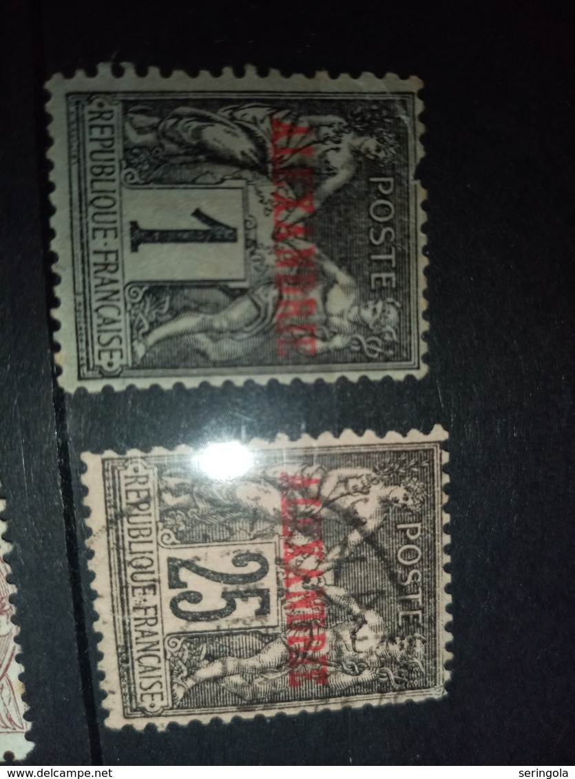 Smail Lot ALEXANDRE, PORT-SAID Francaise - Briefmarken