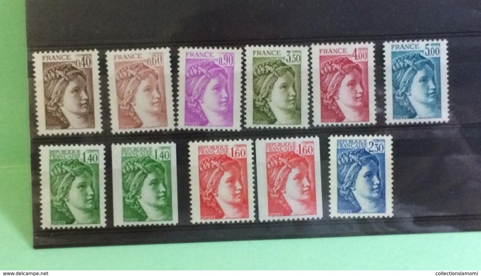 France (Lot Belle SérieType Sabine) 1981 - Neuf (Y&T 11Val) - Coté 13,70€ - Frankrijk