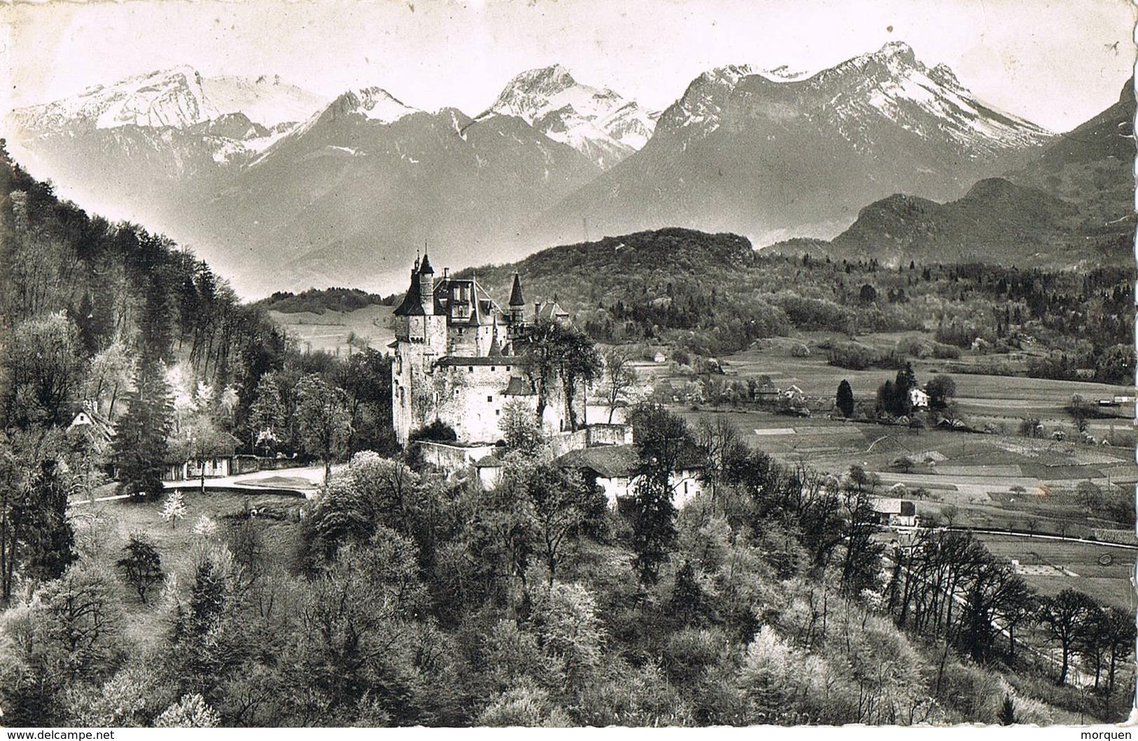 35028. Postal  ANNECY Les FINS (haute Savoie) 1959. Taxe 0,06. Tasada - Francia
