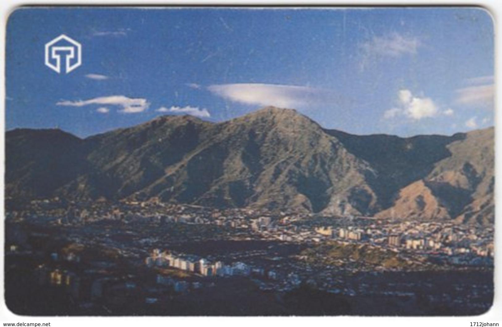 VENEZUELA A-380 Chip CanTV - View, Town, Landscape, Mountains - Used - Venezuela