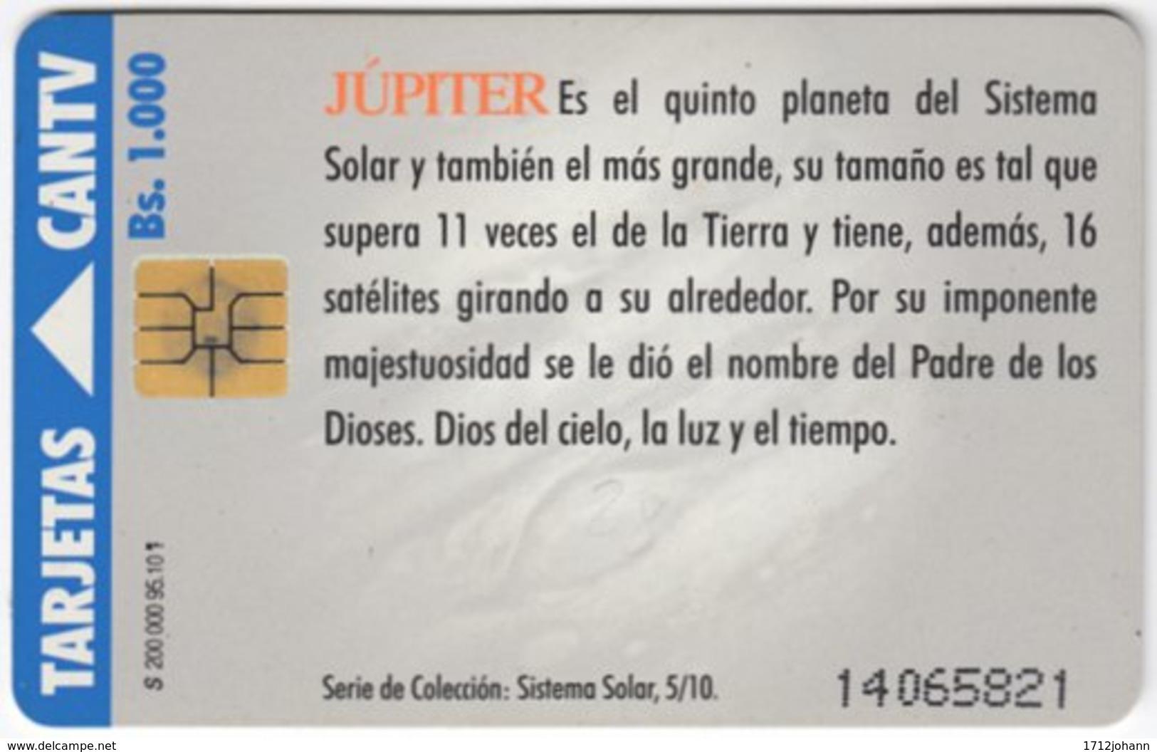 VENEZUELA A-459 Chip CanTV - Unversum, Solar System, Jupiter - Used - Venezuela