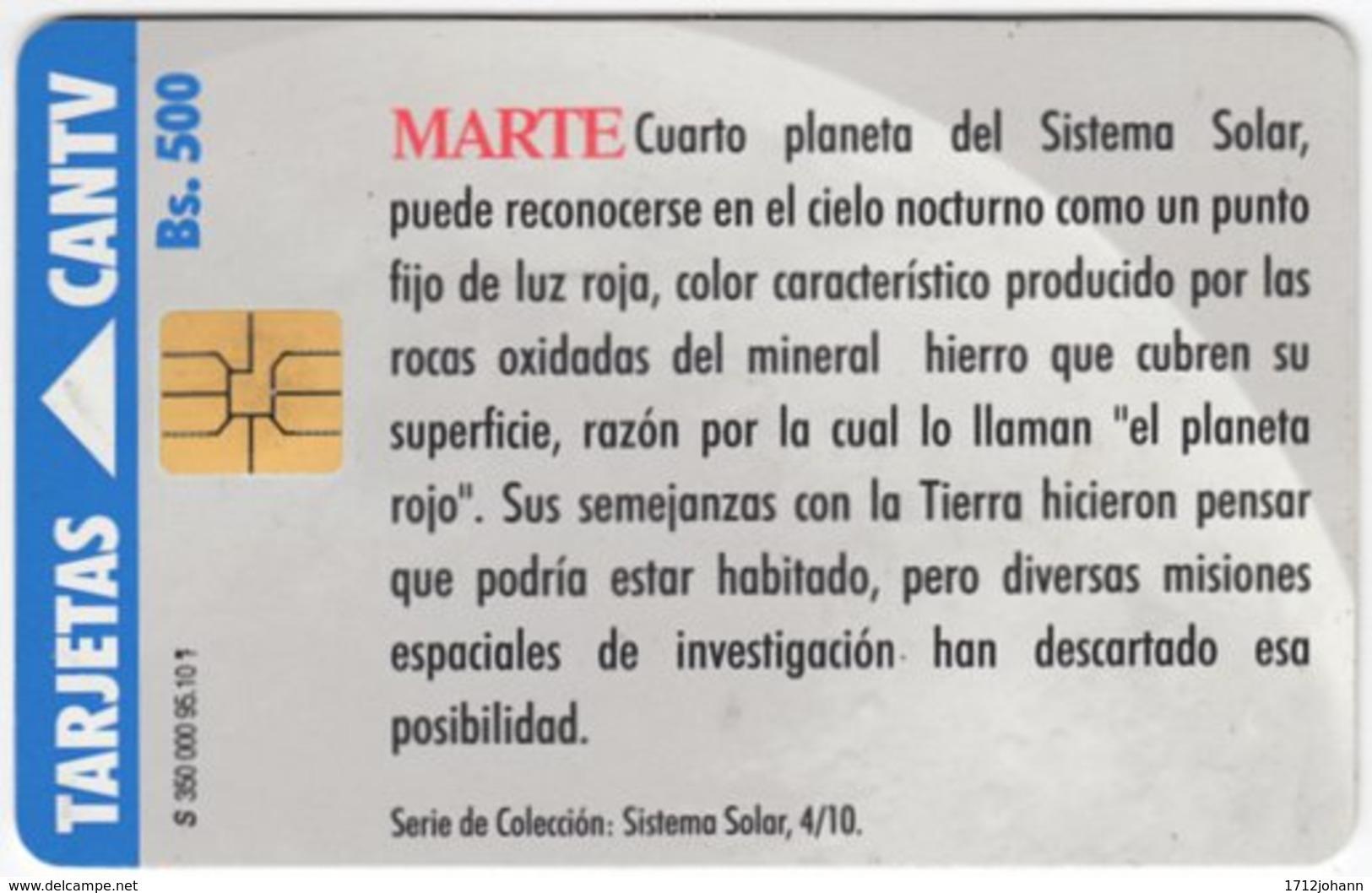 VENEZUELA A-460 Chip CanTV - Unversum, Solar System, Mars - Used - Venezuela