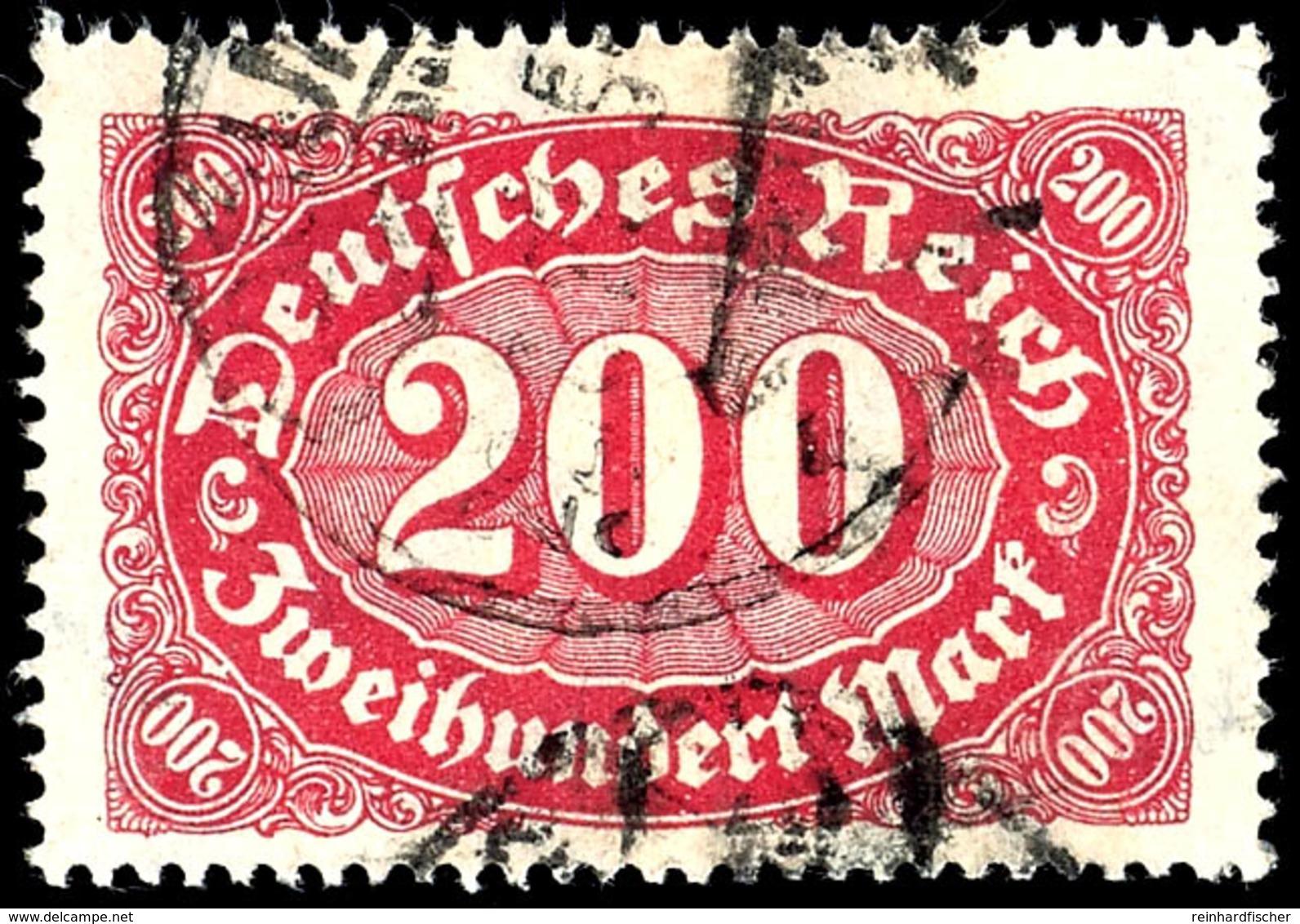 """200 Mark Queroffset, A-Farbe, Plattenfehler I """"letztes S In Deutsches Mit Haken"""", Gestempelt """"COBURG 22.3.23"""", Tadellose - Germany"""