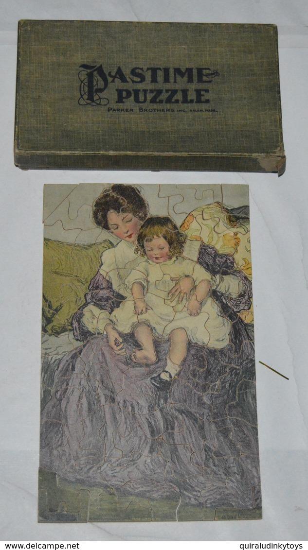 """Véritable Puzzle Anglais En Bois """"jeune Femme Et Son Enfant""""  75 Piéces Bon état Et Complet Voir Photo - Puzzles"""