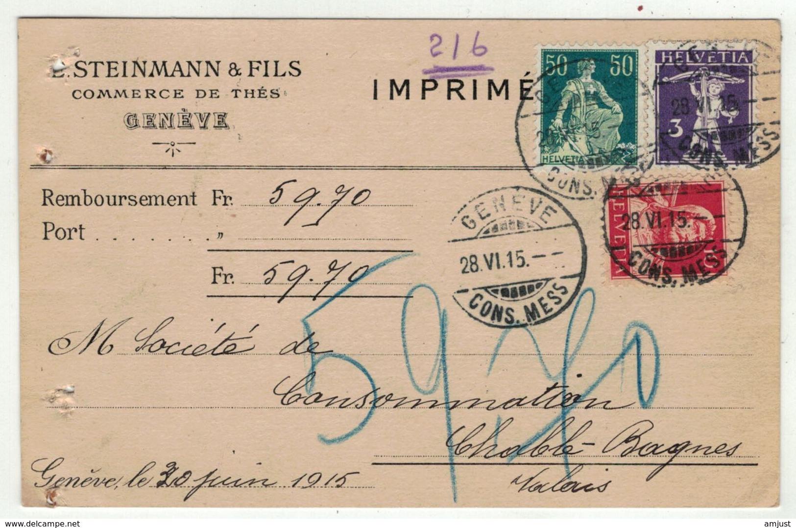 Suisse // Schweiz // Switzerland //  1907-1939 //  Carte Pour Le Châble (Val De Bagnes) - Suisse