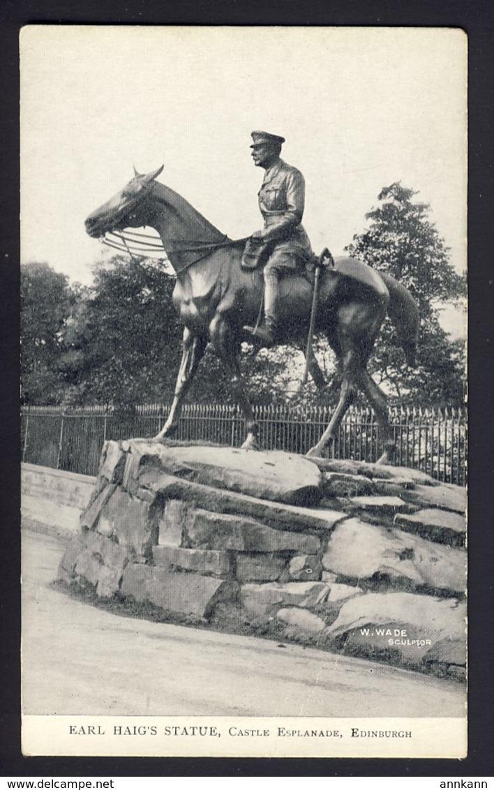 Earl Haig's Statue, Castle Esplanade Edinburgh - Patriotic