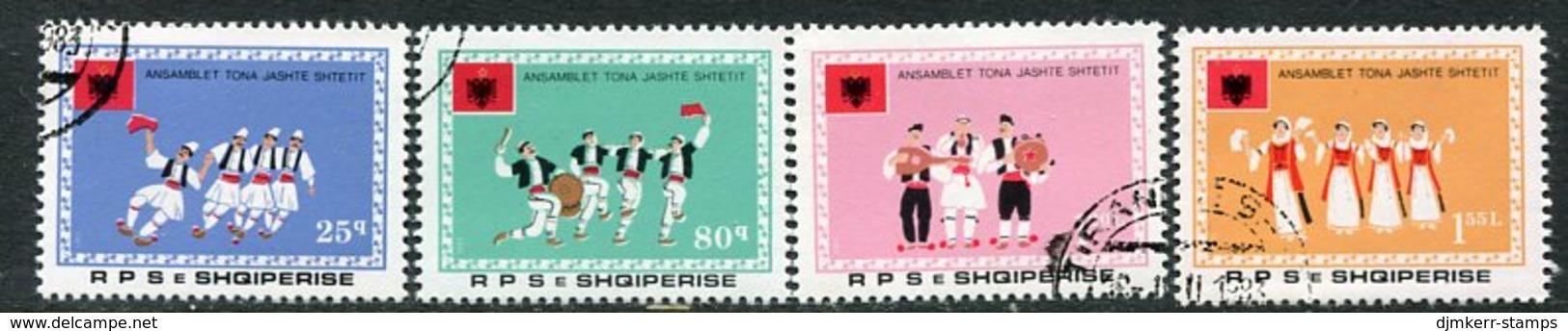 ALBANIA 1983 Folk Dance Groups Abroad Used.  Michel 2152-55 - Albanie